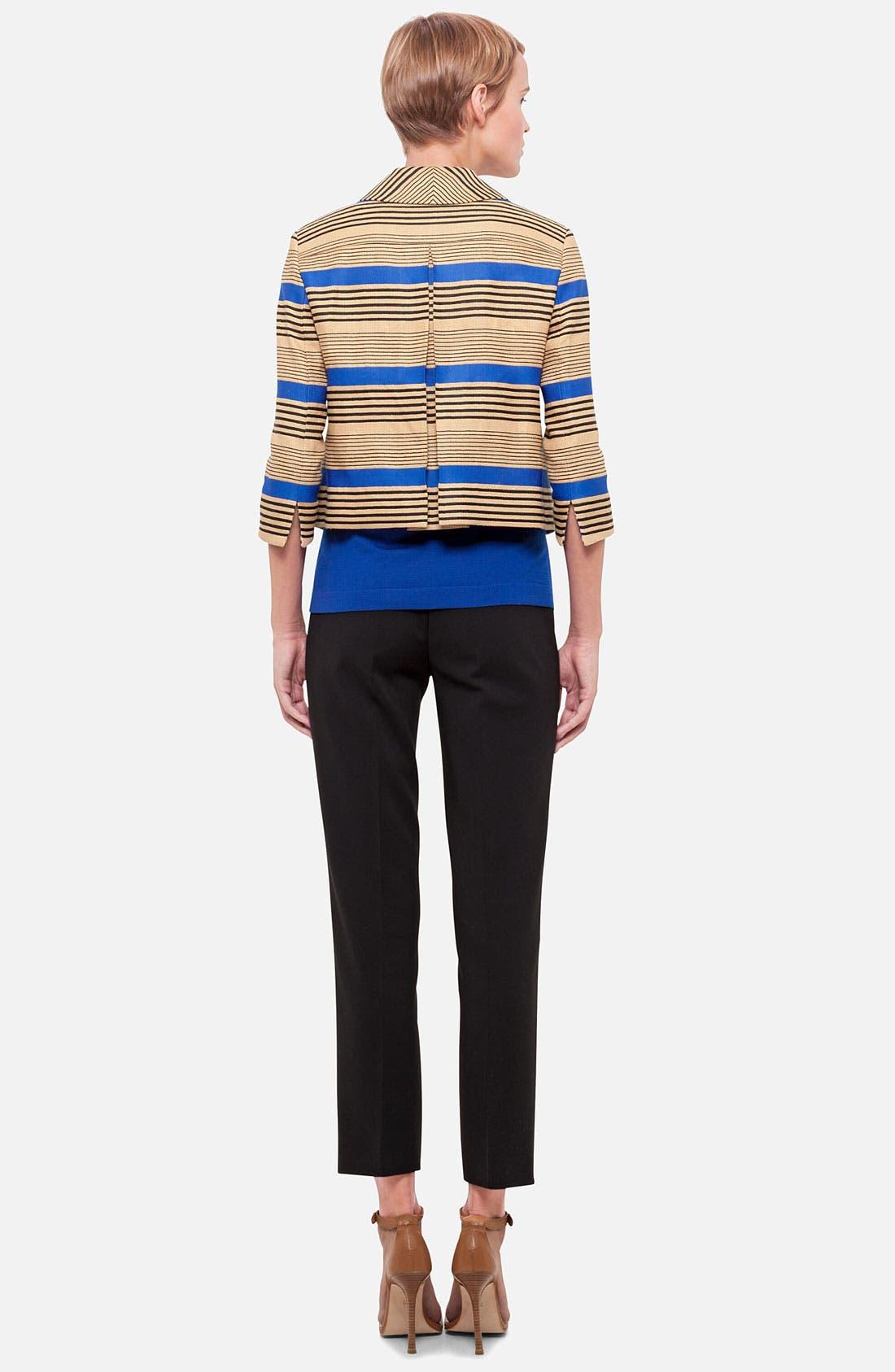 Stripe Linen Blend Jacket,                             Alternate thumbnail 3, color,                             701