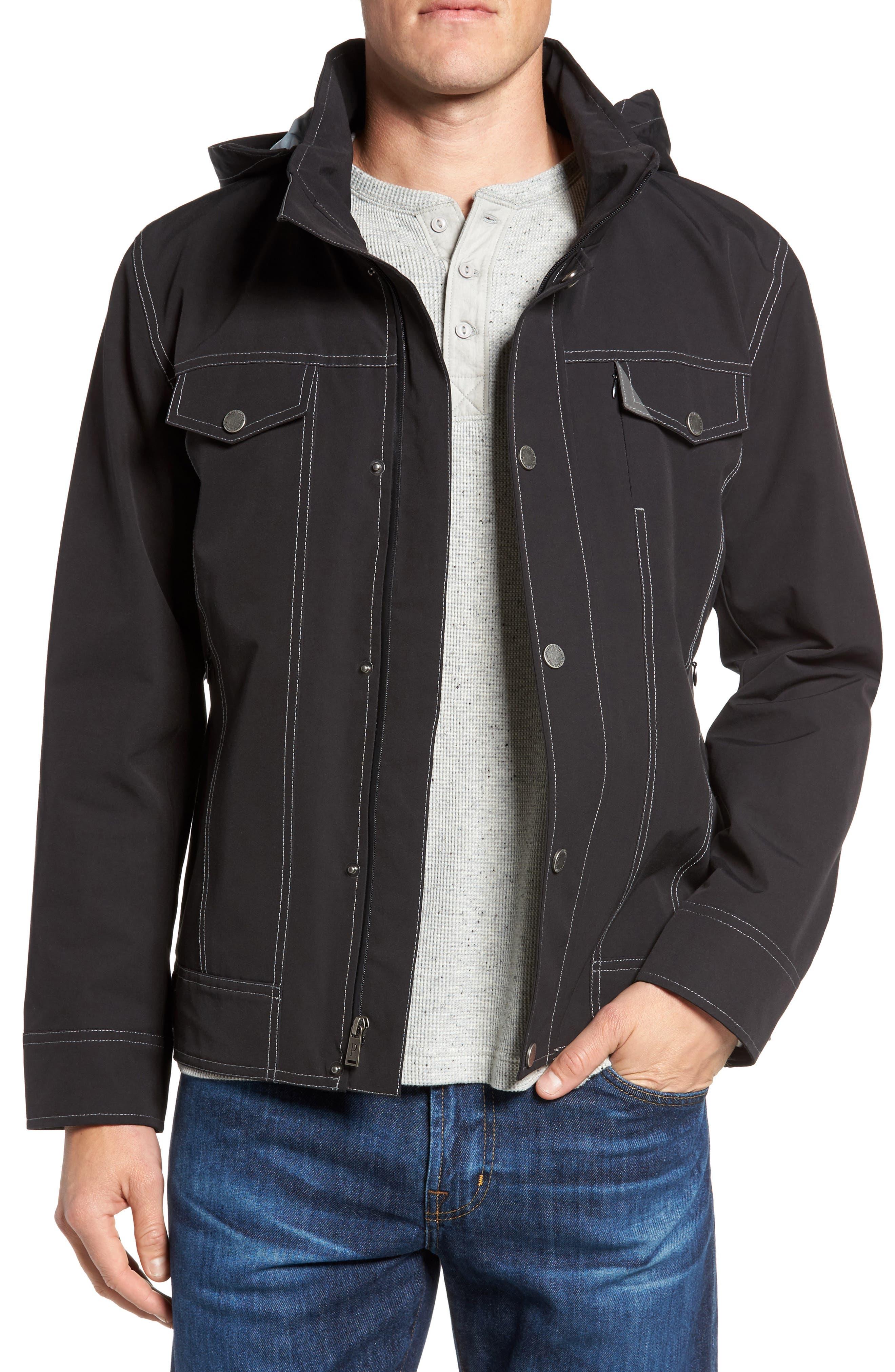 Forks Waterproof Jacket,                             Main thumbnail 1, color,                             001