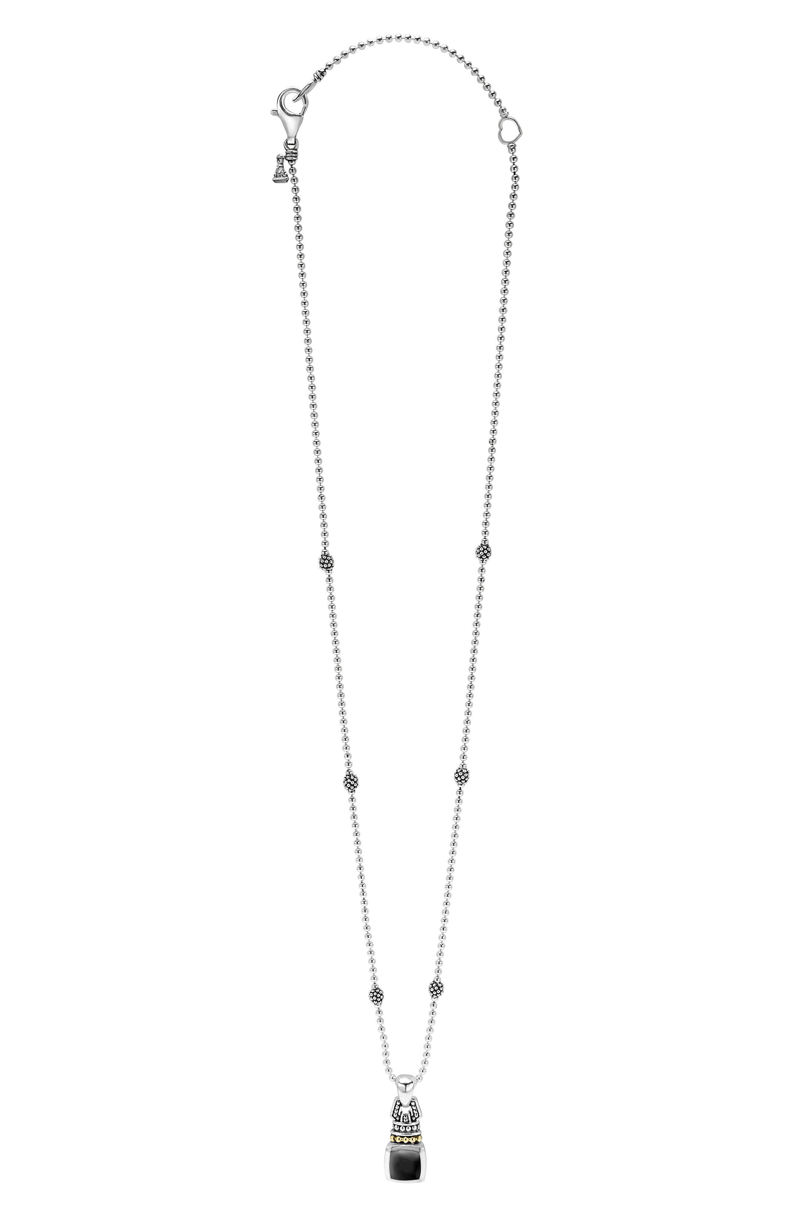 'Caviar Color' Pendant Necklace,                             Main thumbnail 1, color,                             BLACK ONYX