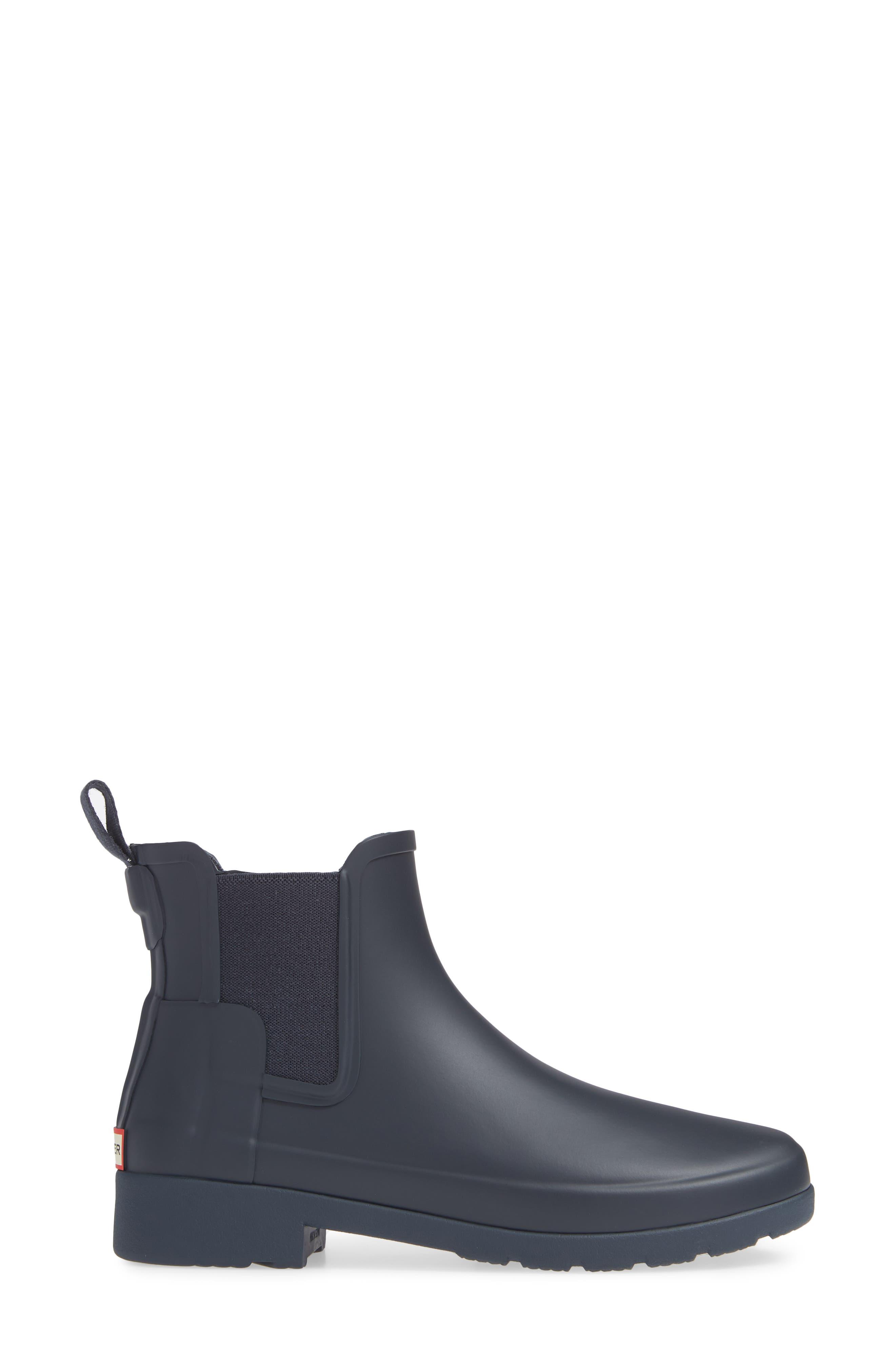 Refined Chelsea Boot,                             Alternate thumbnail 3, color,                             NAVY