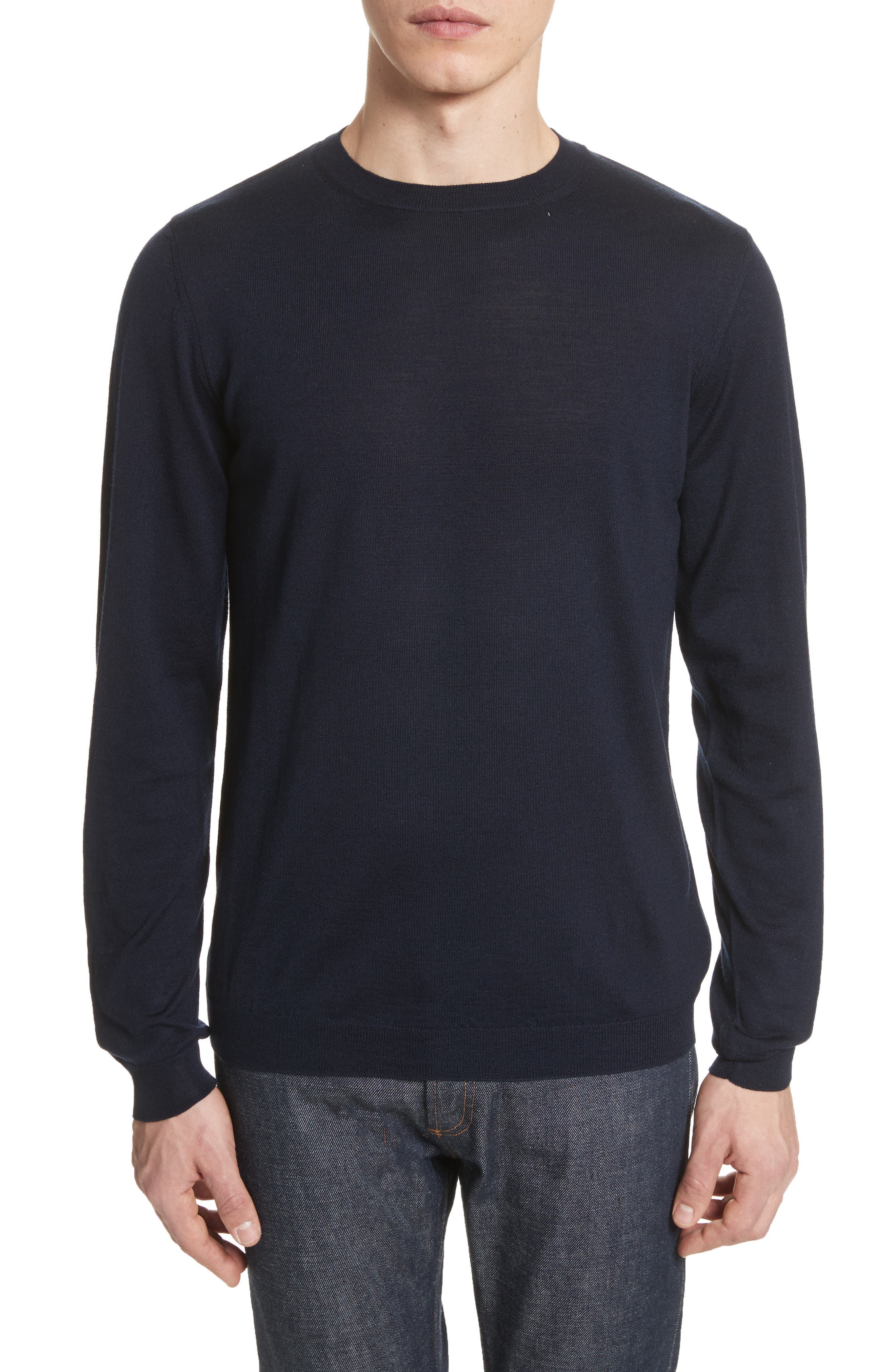 Sigfred Merino Wool & Silk Crewneck Sweater,                             Main thumbnail 1, color,                             412