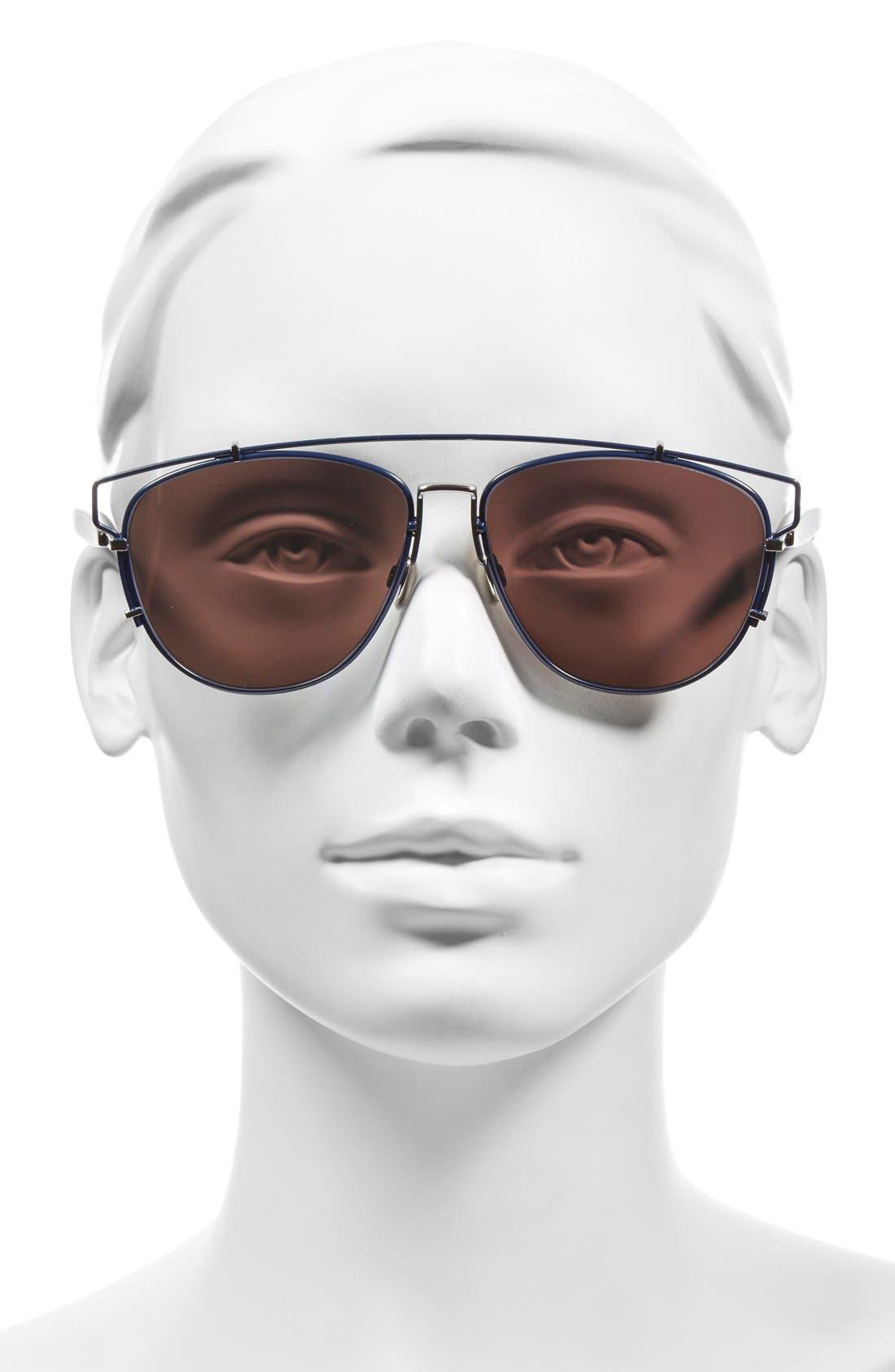 Technologic 57mm Brow Bar Sunglasses,                             Alternate thumbnail 22, color,