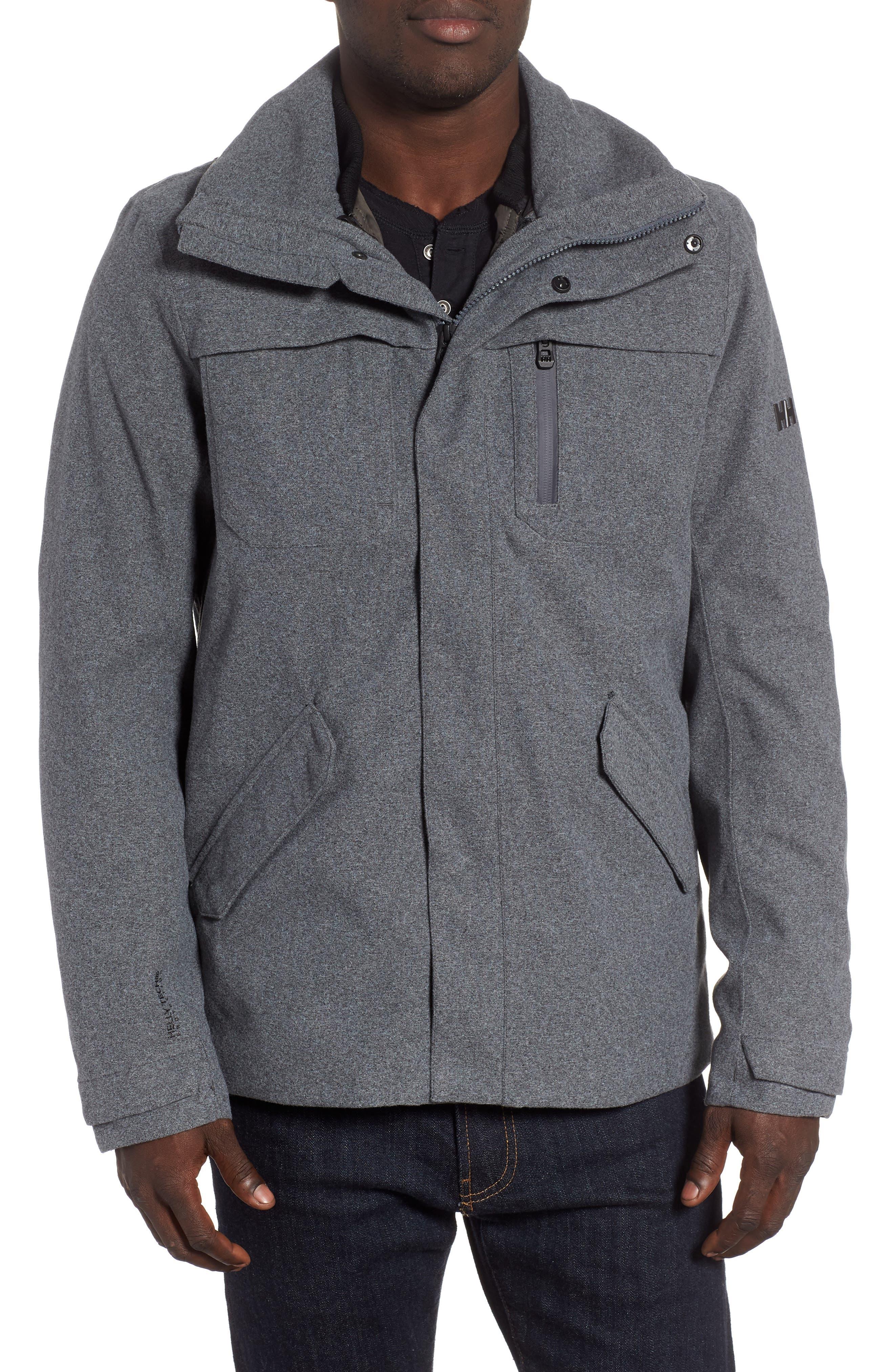 Helly Hansen Reykjavik Regular Fit Waterproof Primaloft 3-In-1 Jacket, Grey