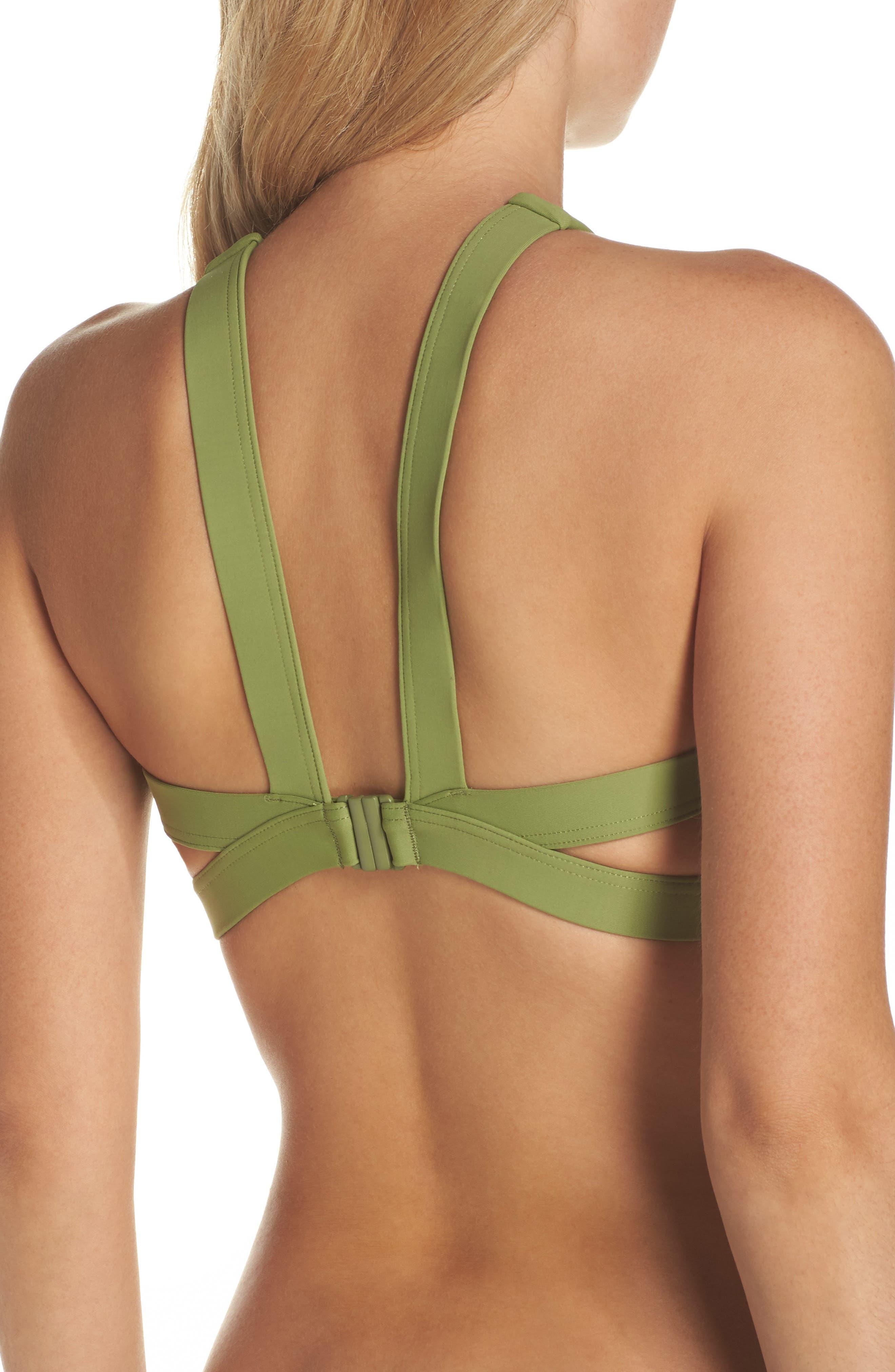 High Neck Bikini Top,                             Alternate thumbnail 3, color,