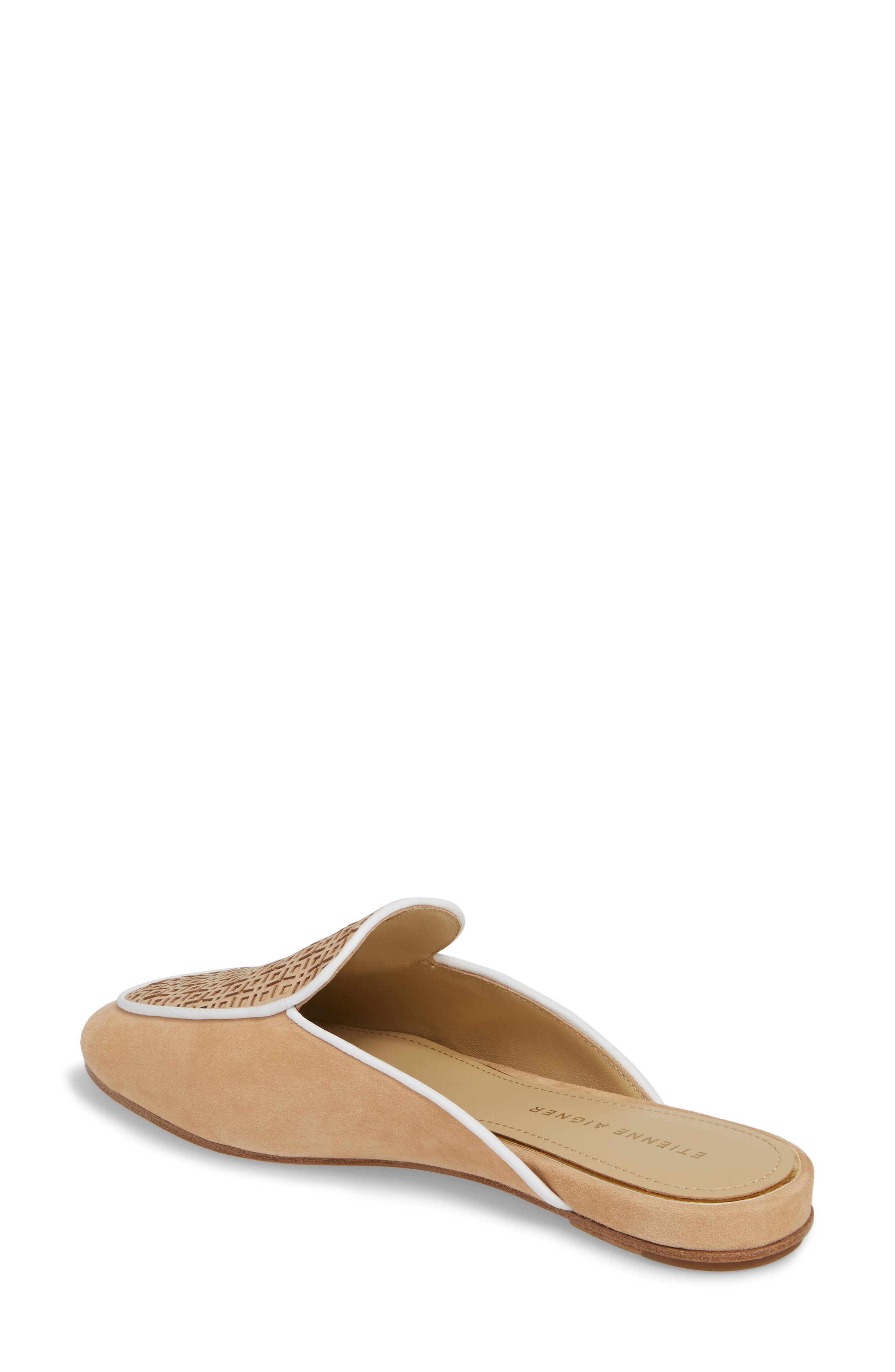 Caymen Mule,                             Alternate thumbnail 2, color,                             NATURAL/ FAWN/ WHITE