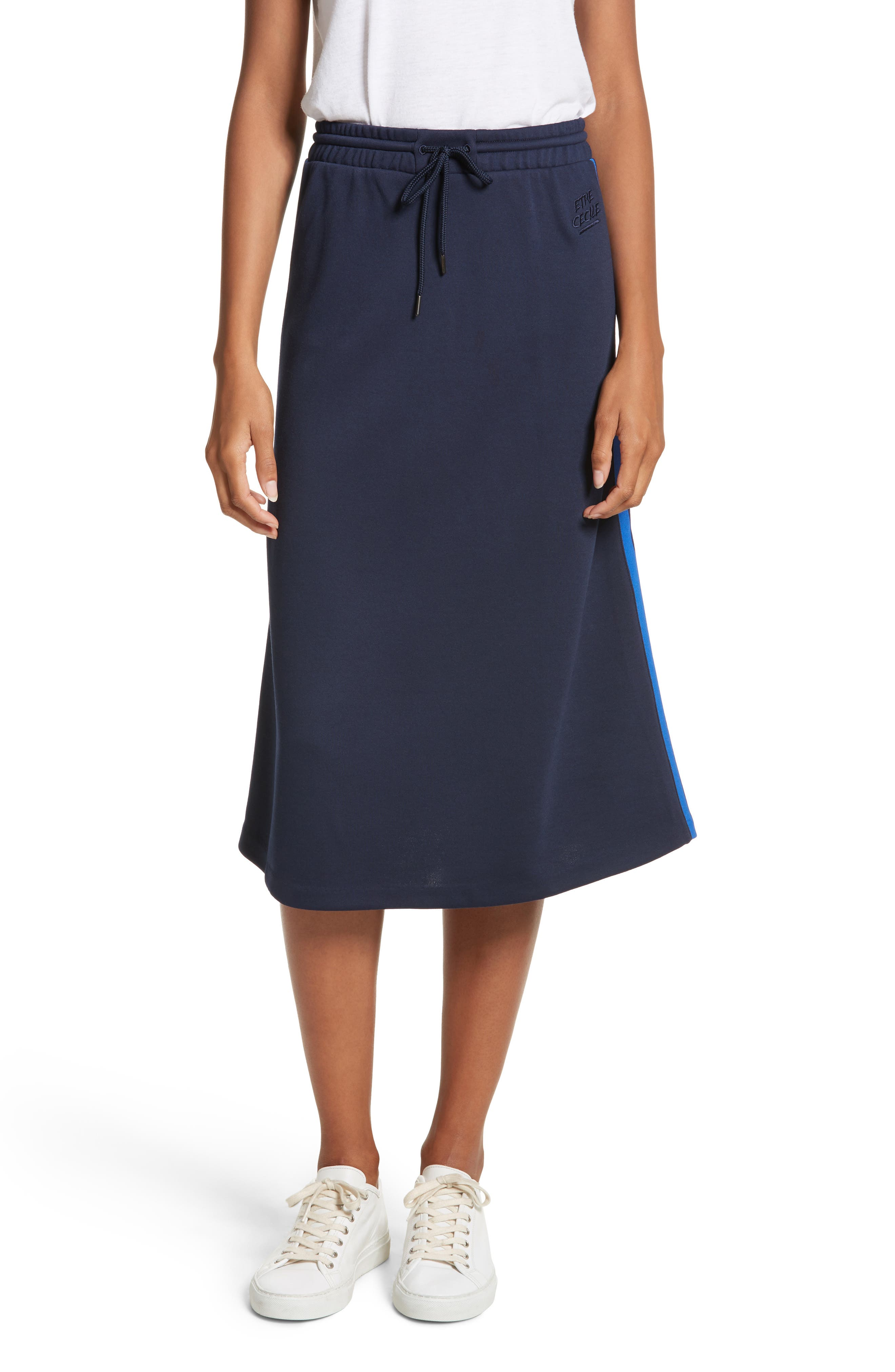 être cécile A-Line Midi Skirt,                             Main thumbnail 1, color,                             400
