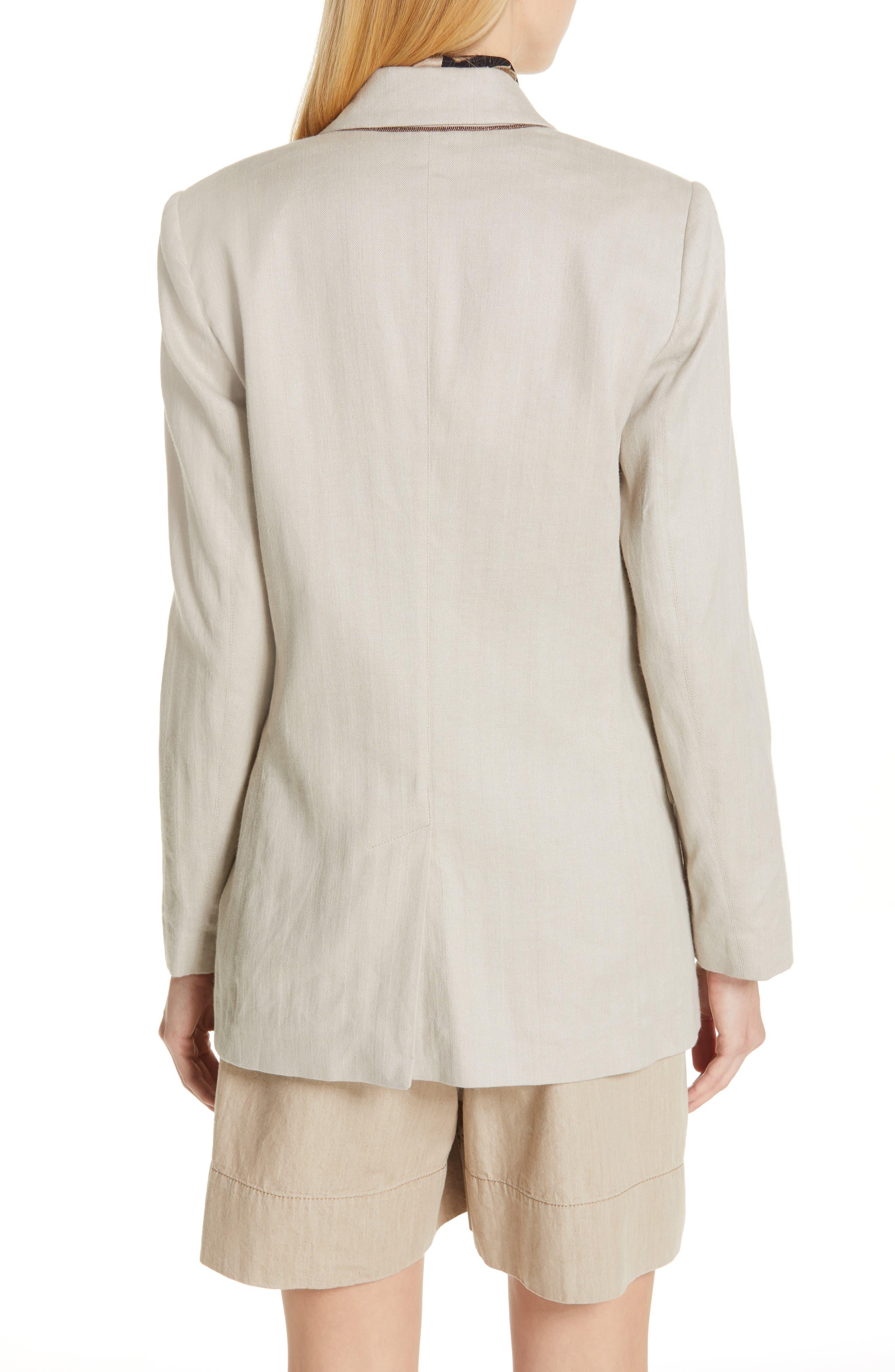 Chevron Weave Cotton & Linen Jacket,                             Alternate thumbnail 2, color,                             DESERT