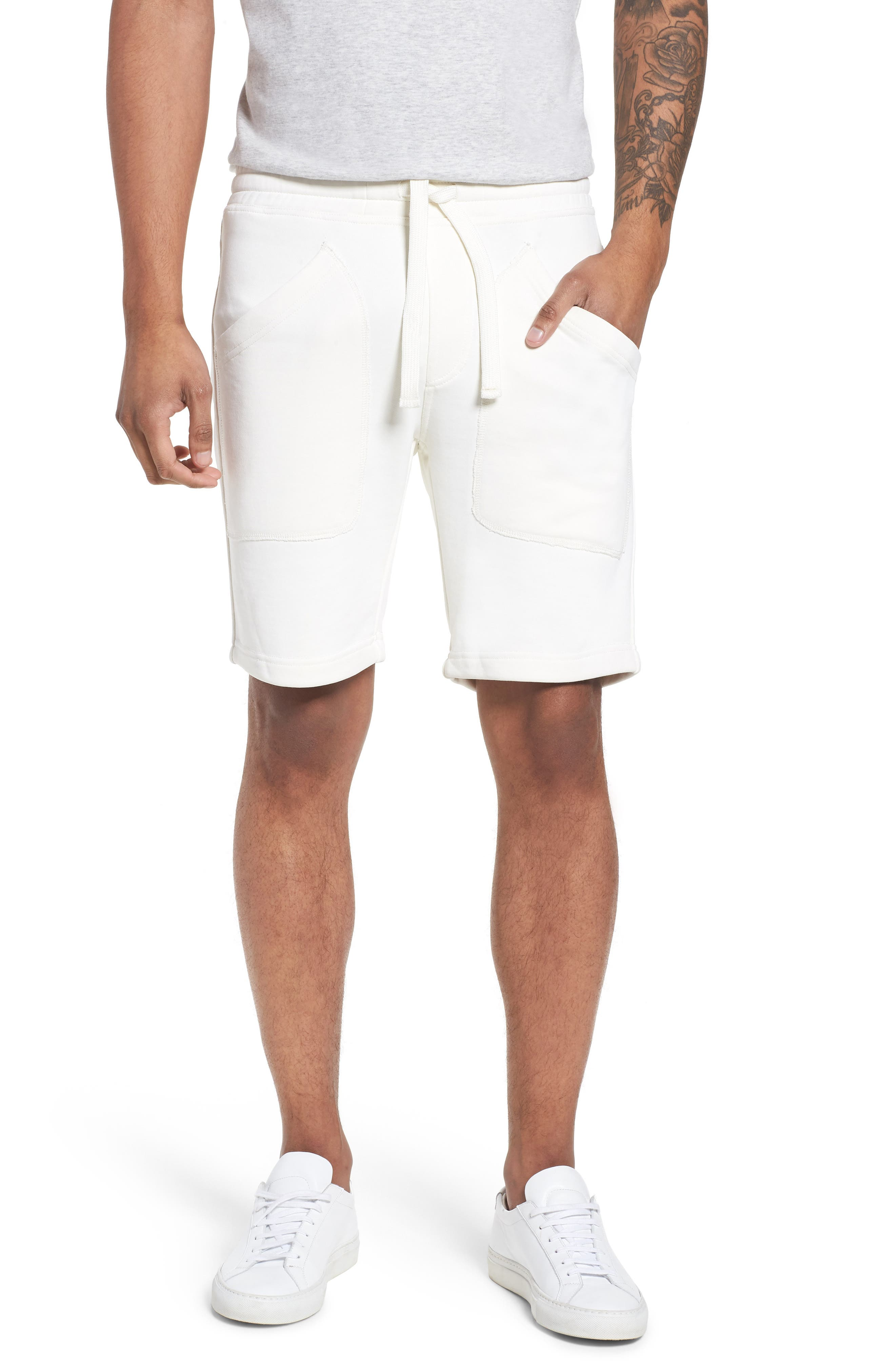 Lux French Terry Shorts,                             Main thumbnail 1, color,                             250