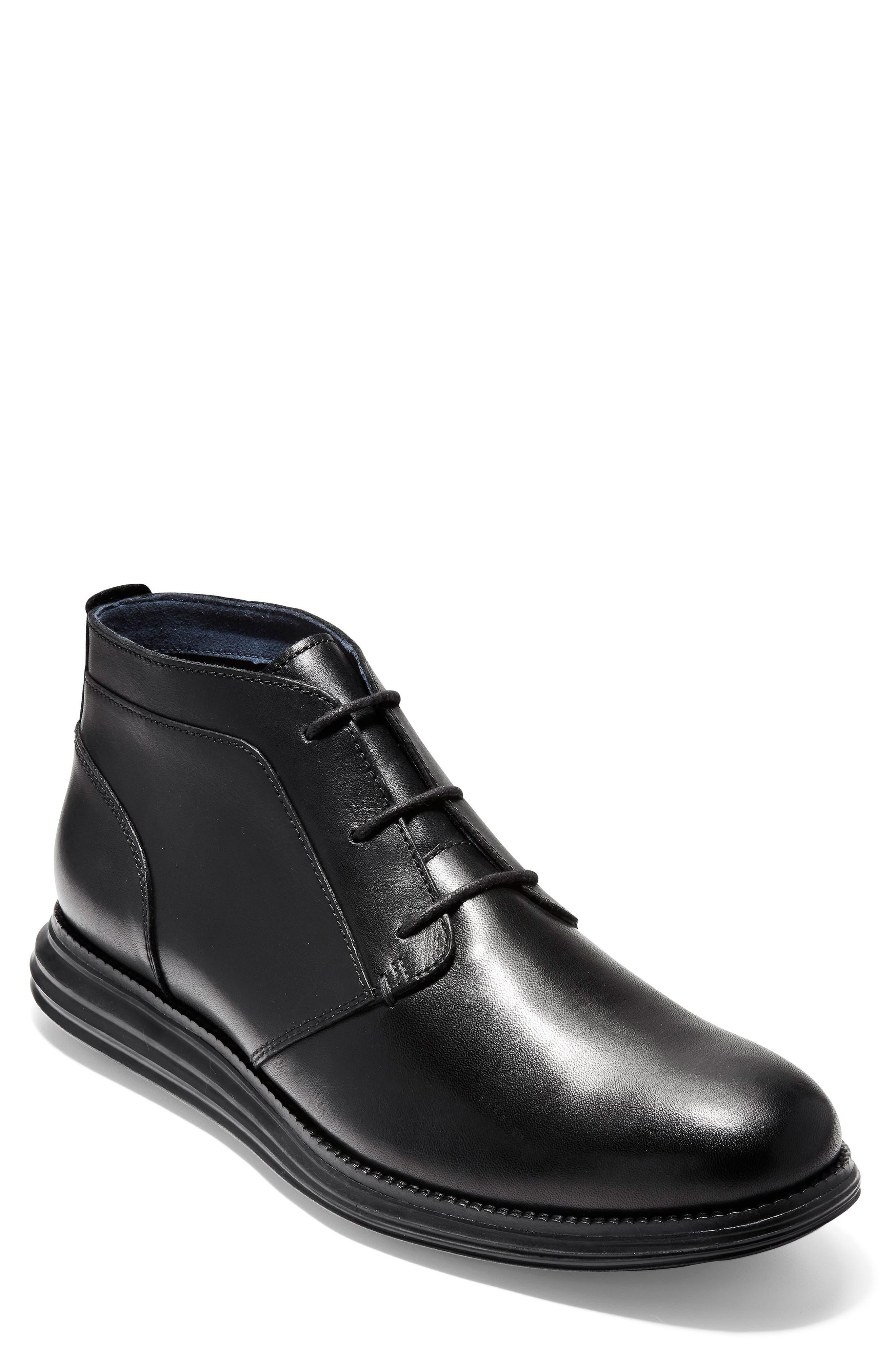 Original Grand Chukka Boot,                         Main,                         color, BLACK LEATHER
