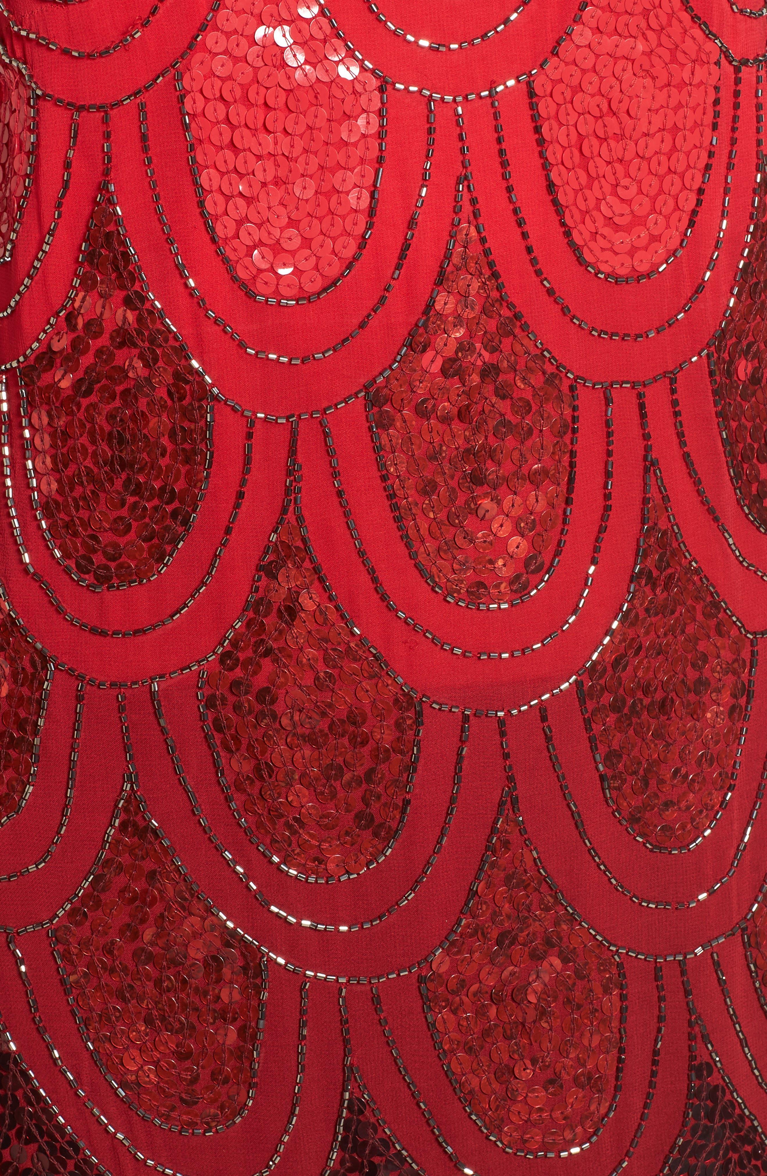 Dame Sequin Minidress,                             Alternate thumbnail 5, color,                             600