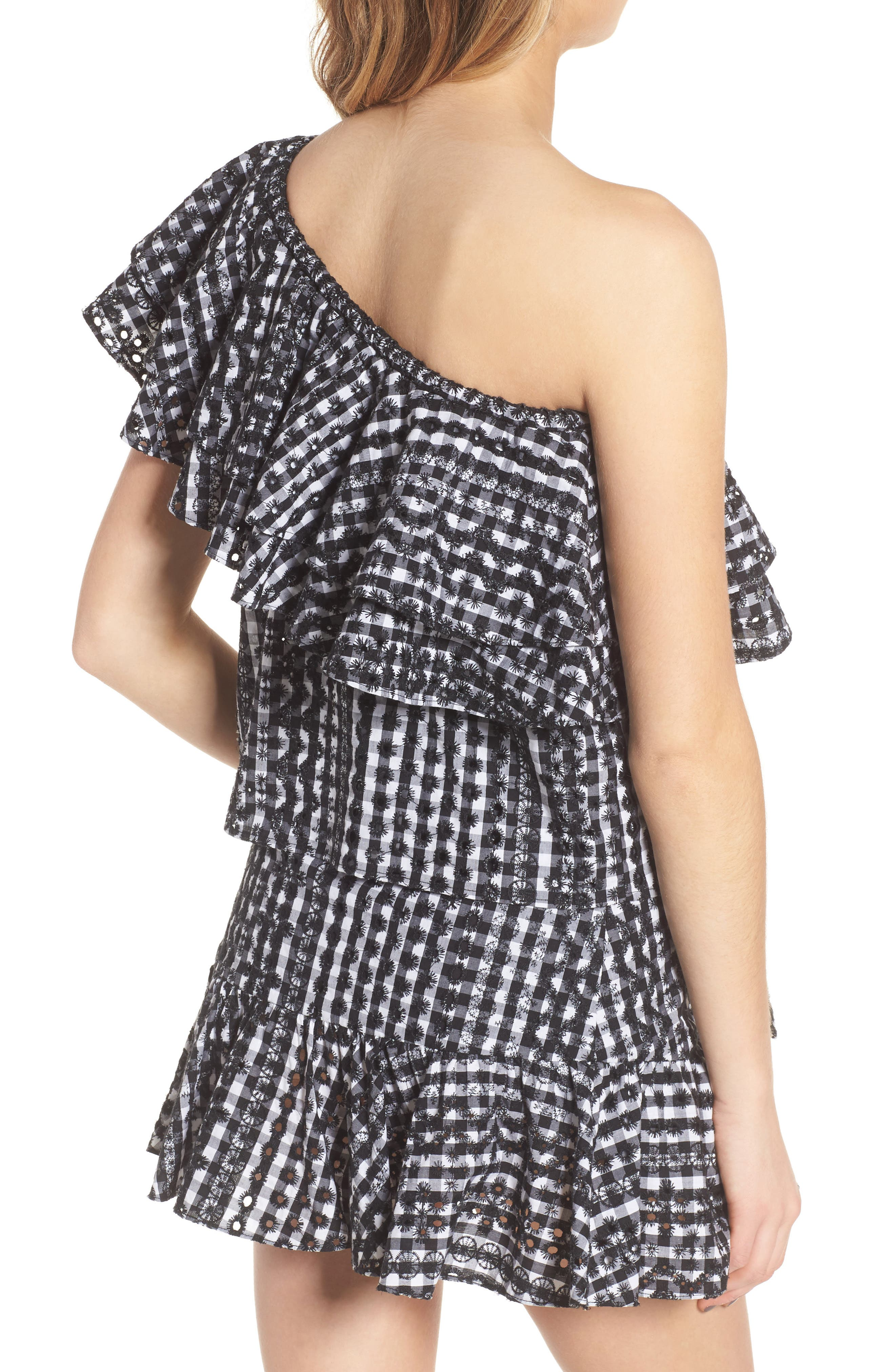 Lily Eyelet Gingham Top,                             Alternate thumbnail 2, color,                             004