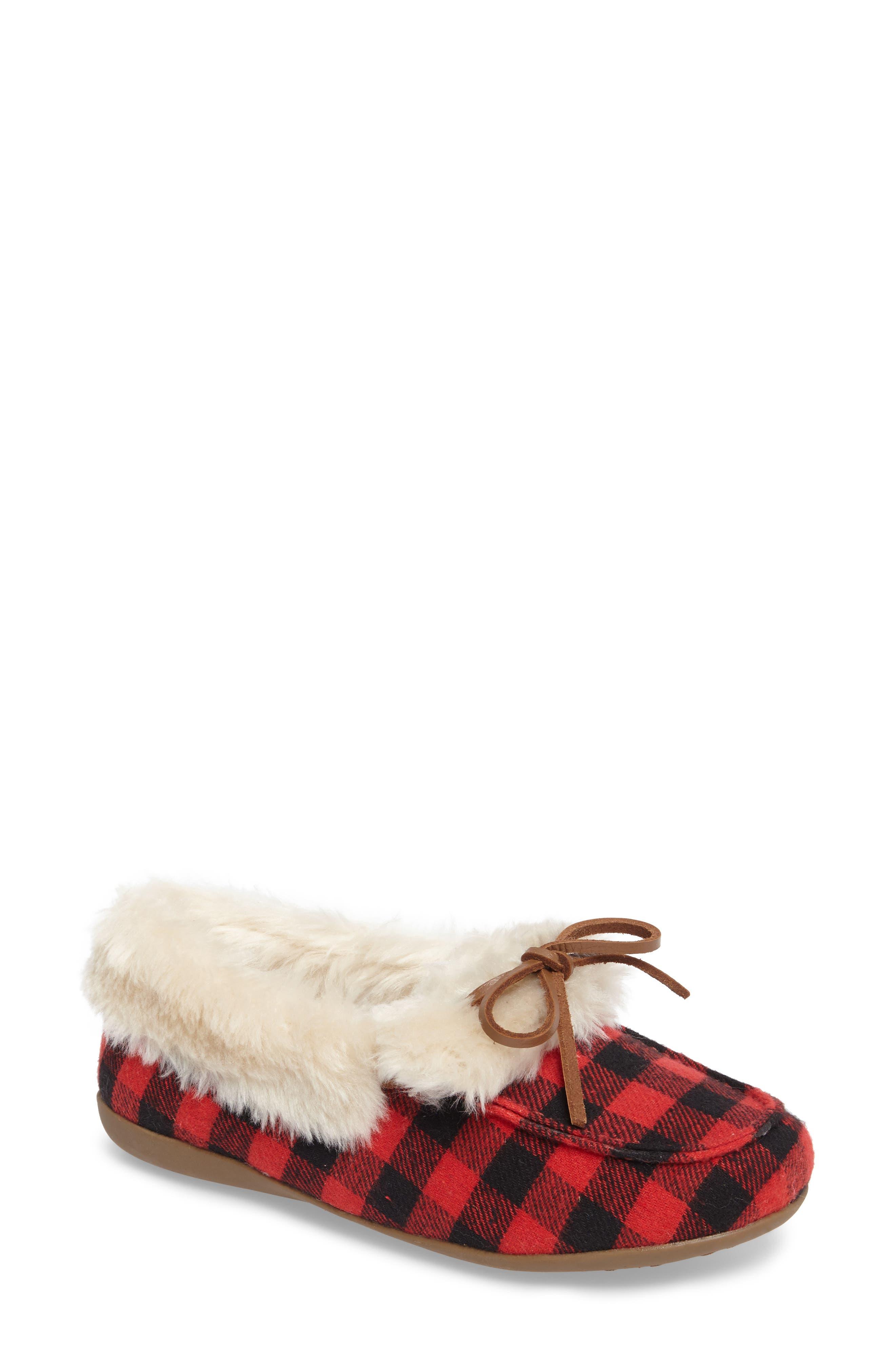 Juniper Faux Fur Slipper,                         Main,                         color,