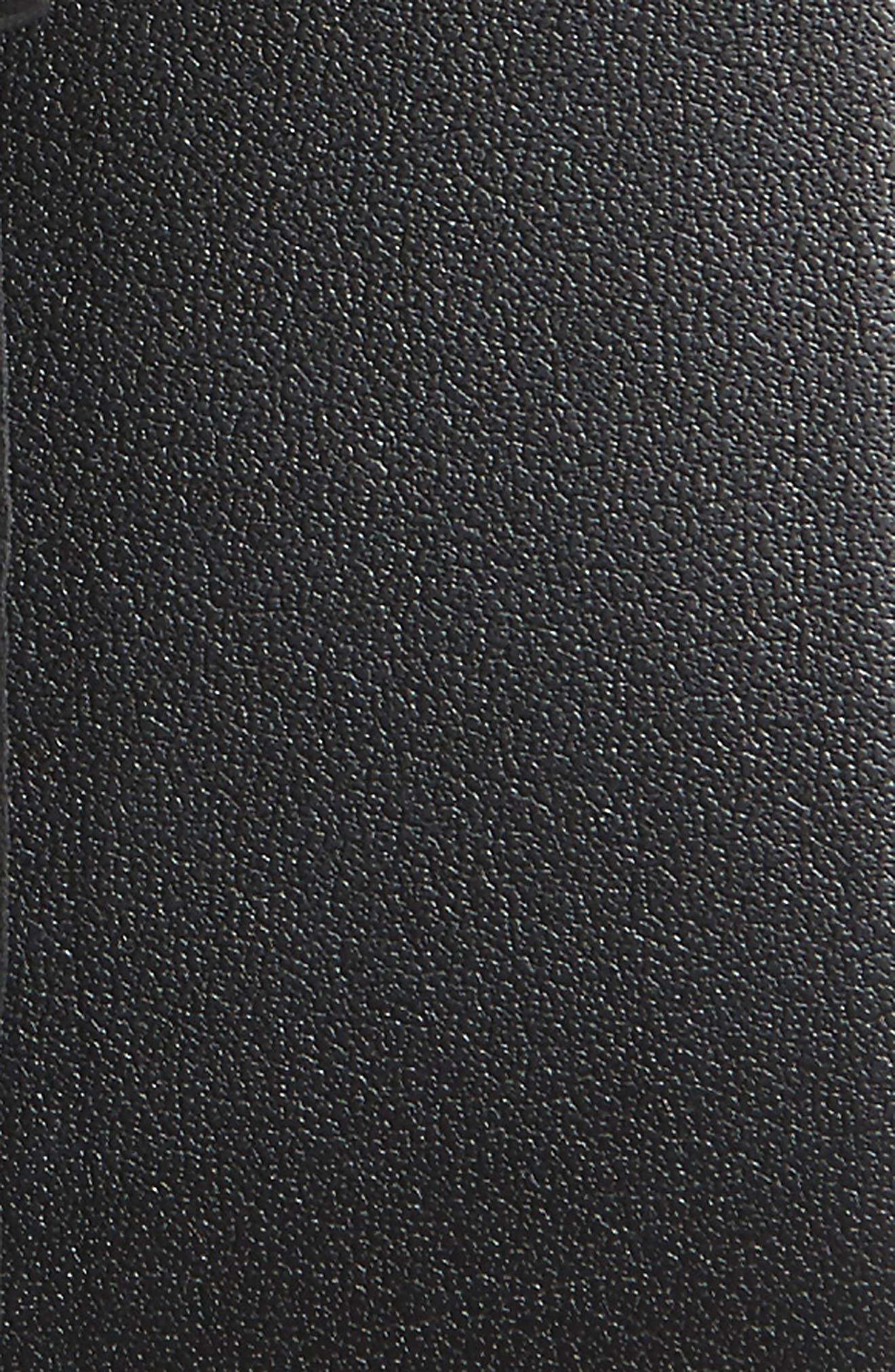 Victor Leather Belt,                             Alternate thumbnail 2, color,                             BLACK