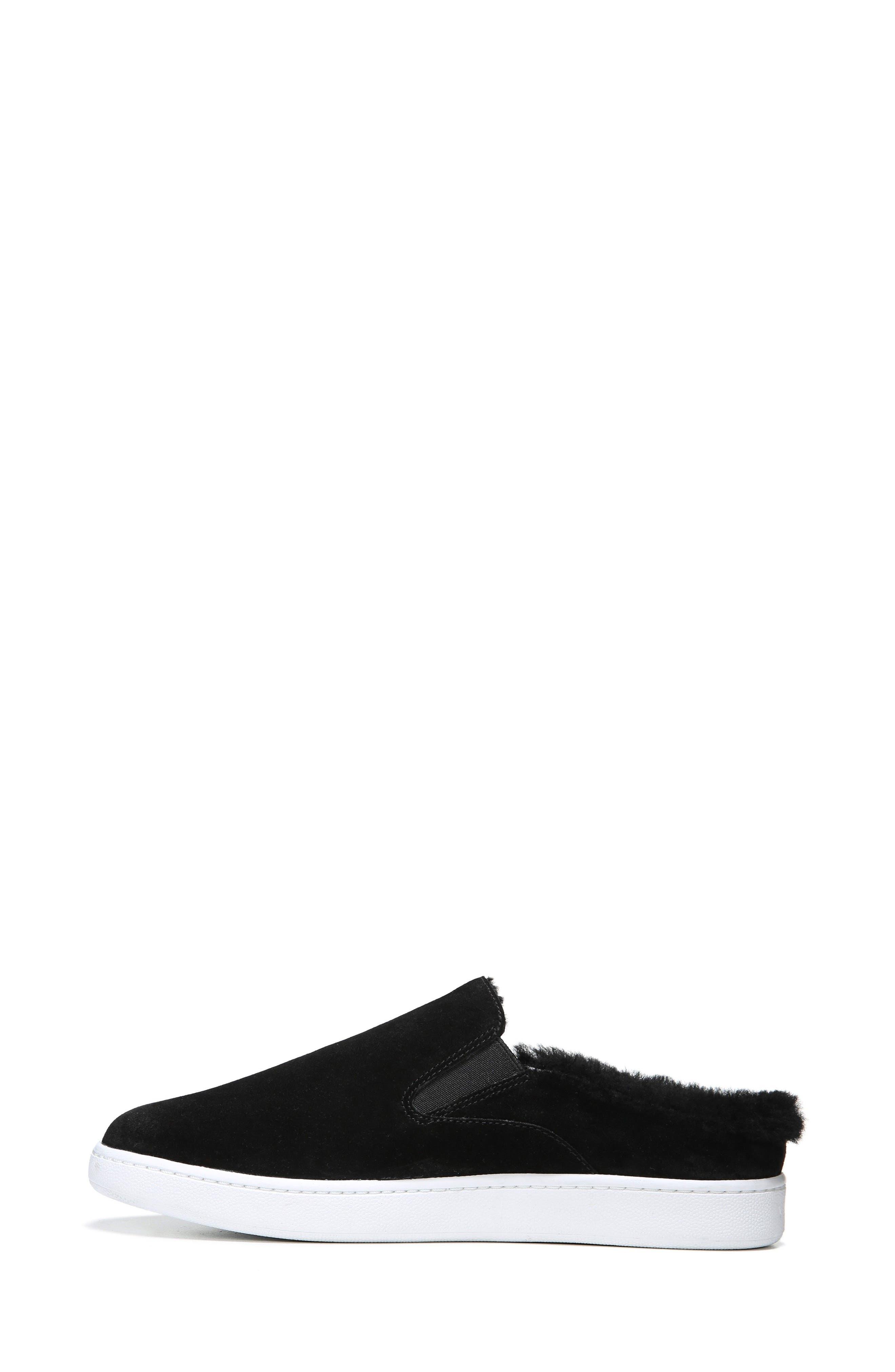 Verrell Genuine Shearling Slip-On Sneaker,                             Alternate thumbnail 3, color,                             001