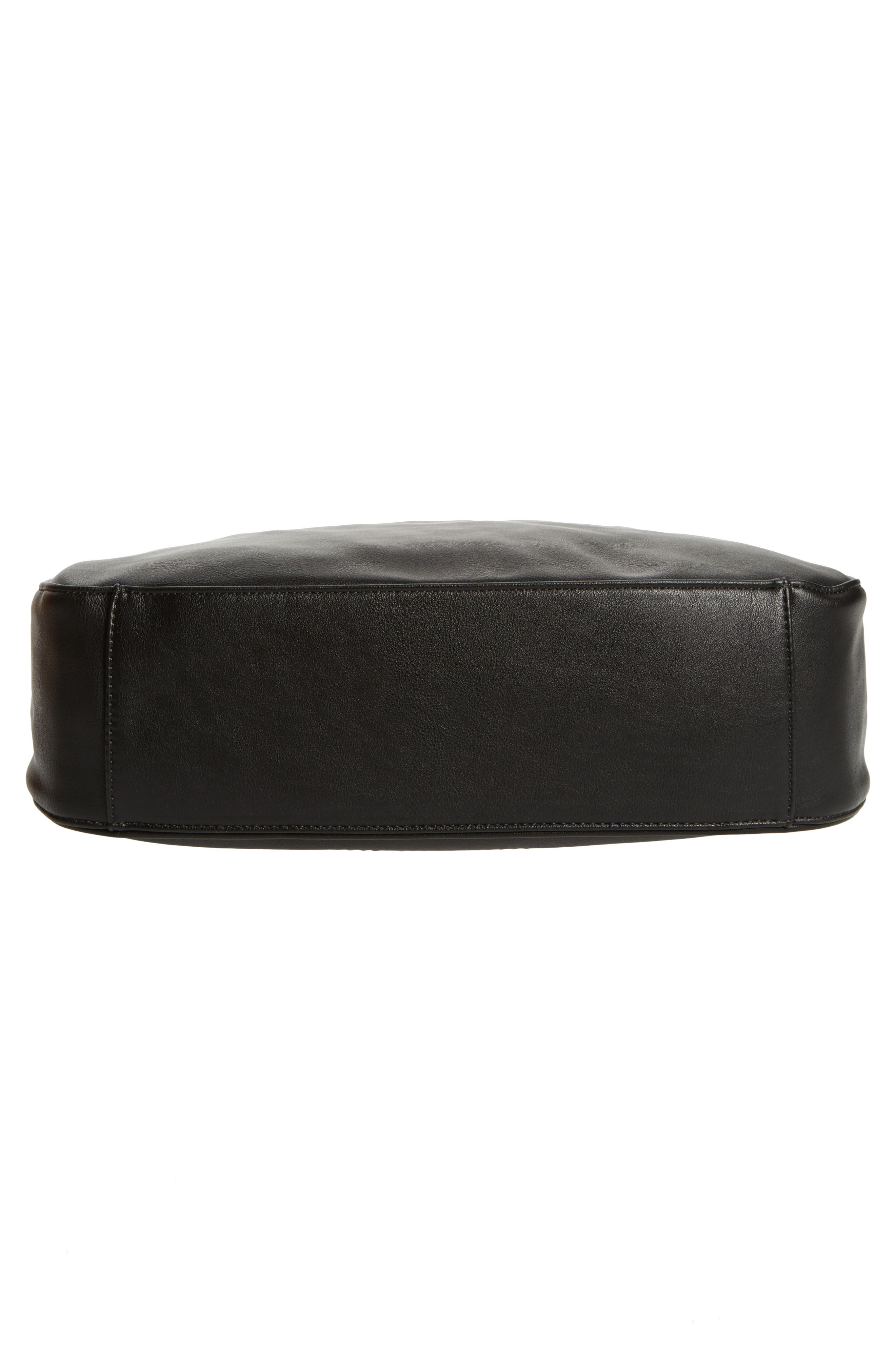 Vale Faux Leather Hobo Bag,                             Alternate thumbnail 6, color,                             001