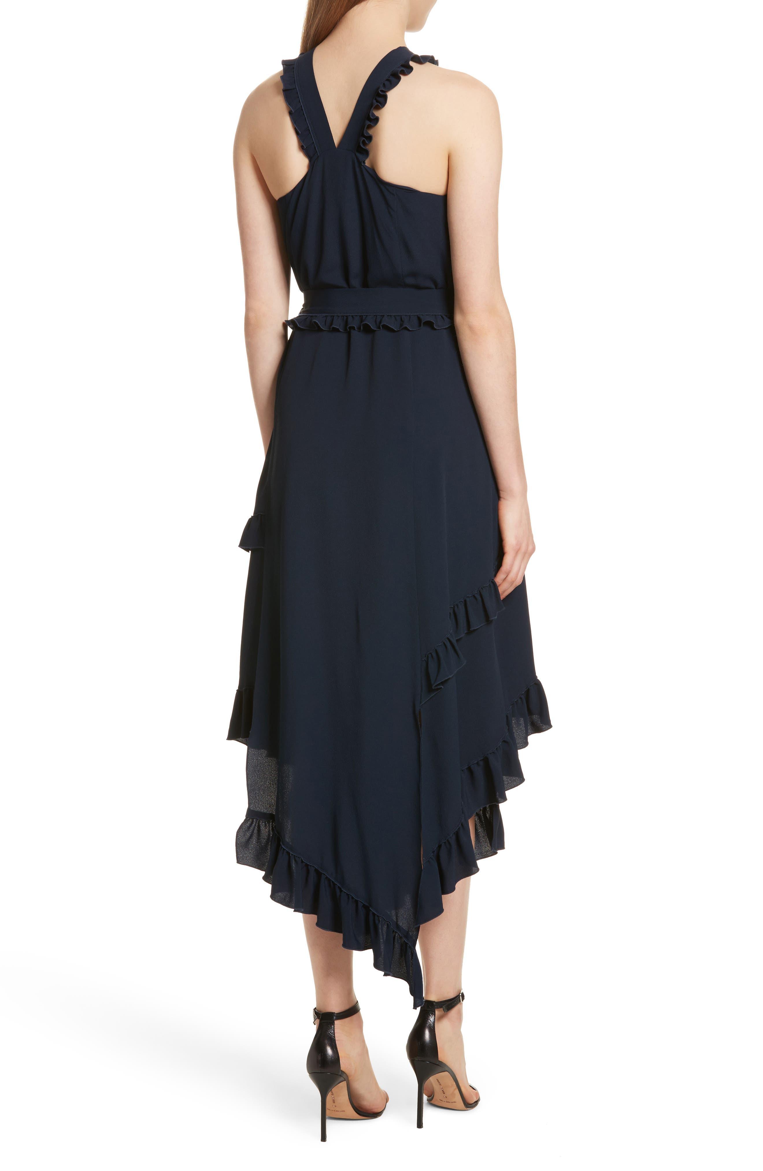 Ruffled Asymmetrical Dress,                             Alternate thumbnail 2, color,                             401