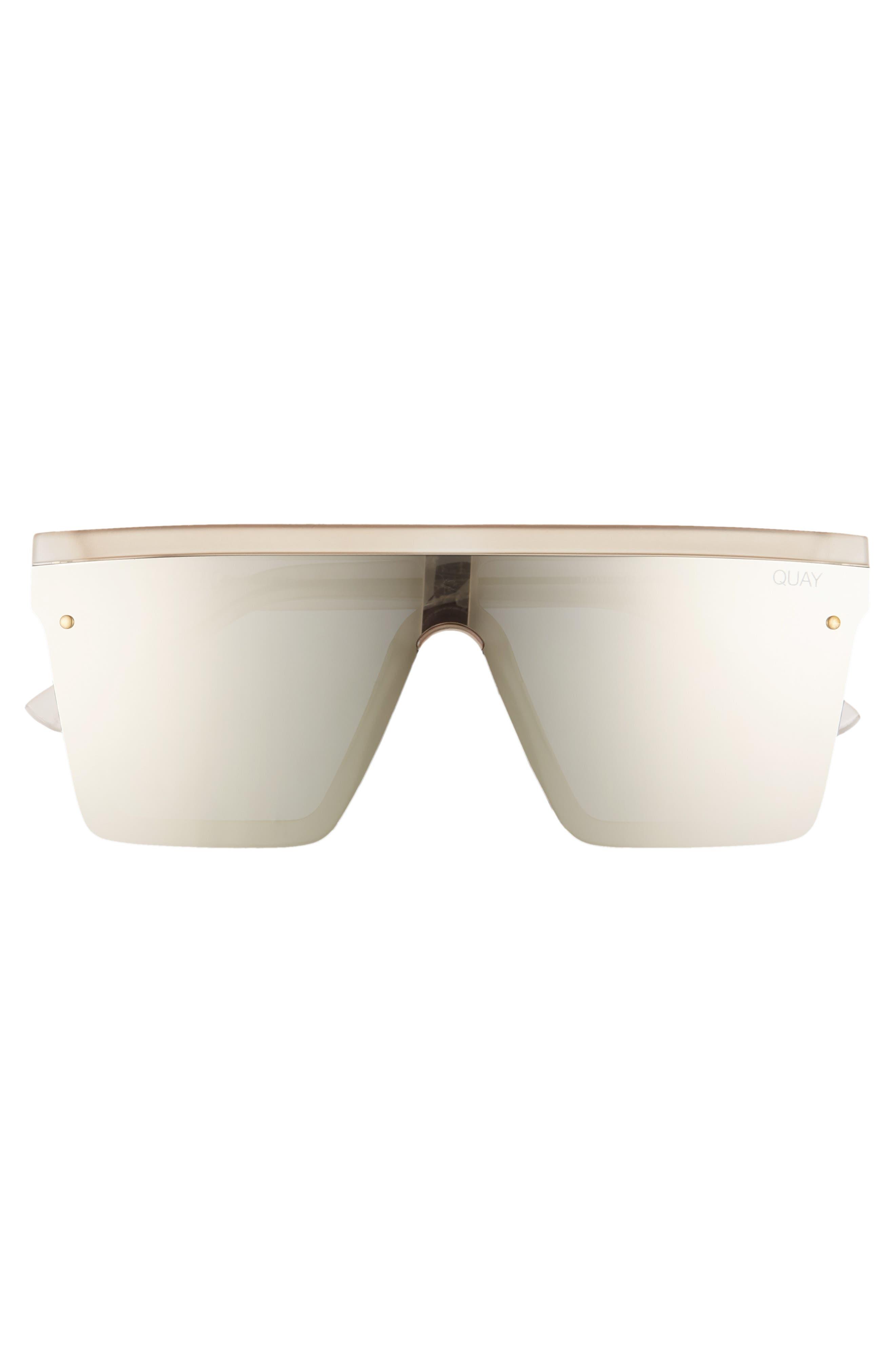 Hindsight 150mm Shield Sunglasses,                             Alternate thumbnail 3, color,                             GOLD/ GOLD