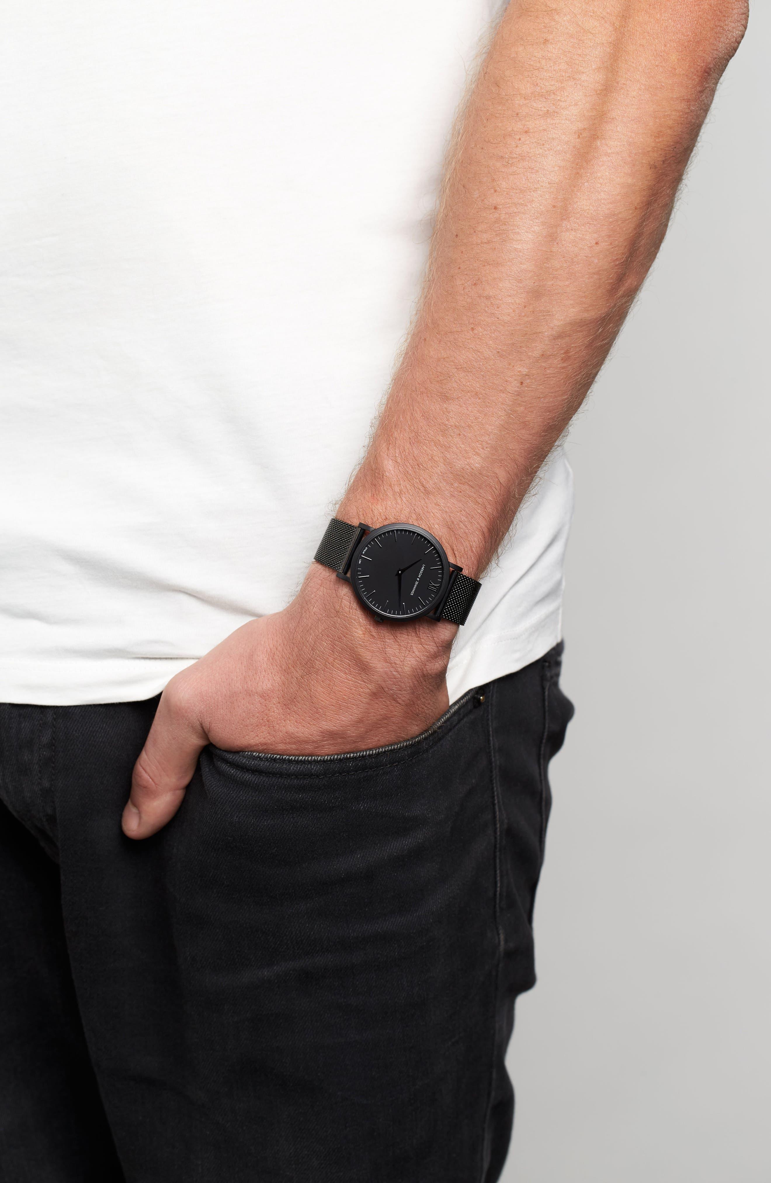 Lugano Mesh Strap Watch, 40mm,                             Main thumbnail 1, color,                             001