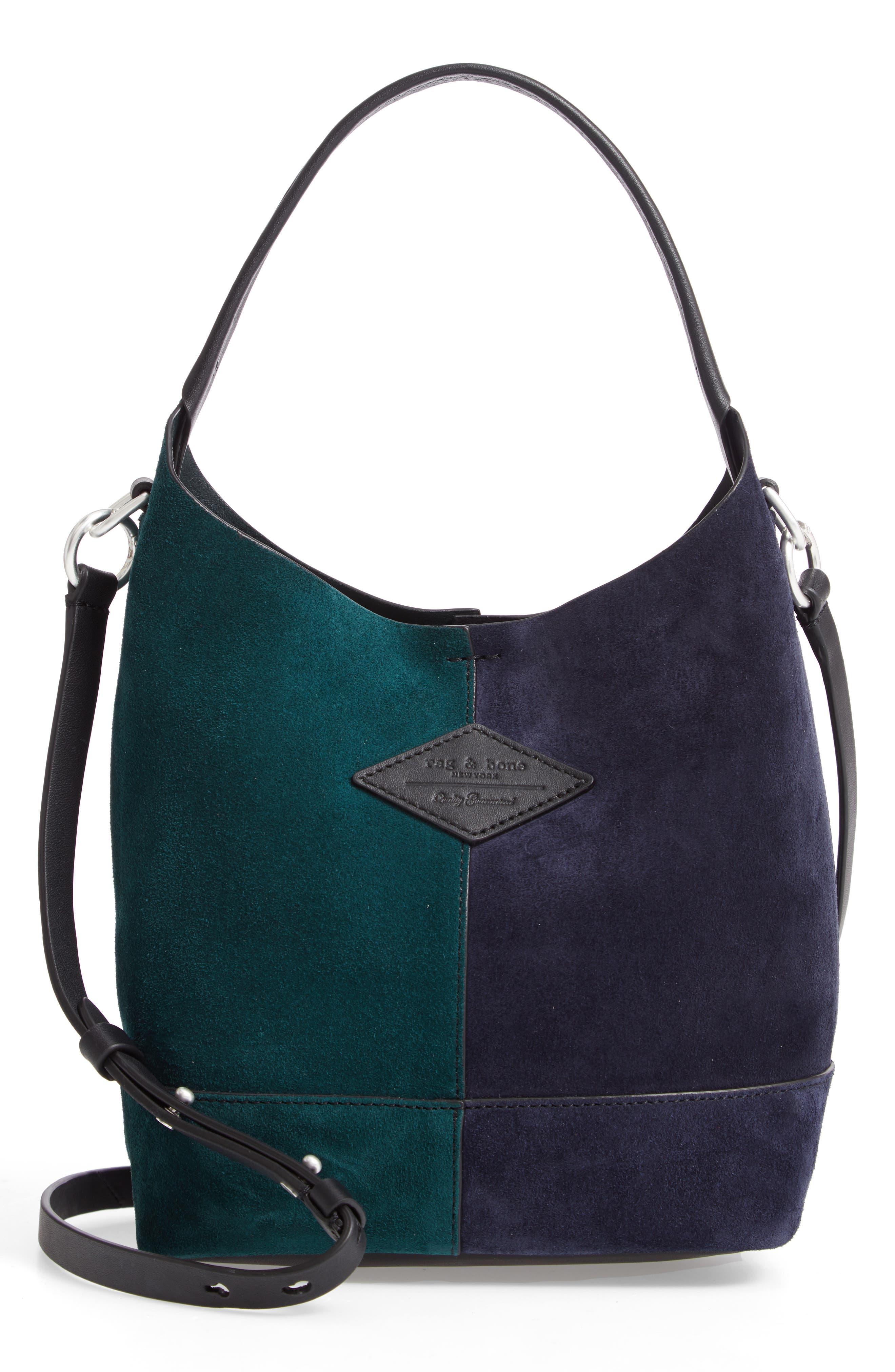 Mini Camden Suede Tote,                             Main thumbnail 1, color,                             FOREST