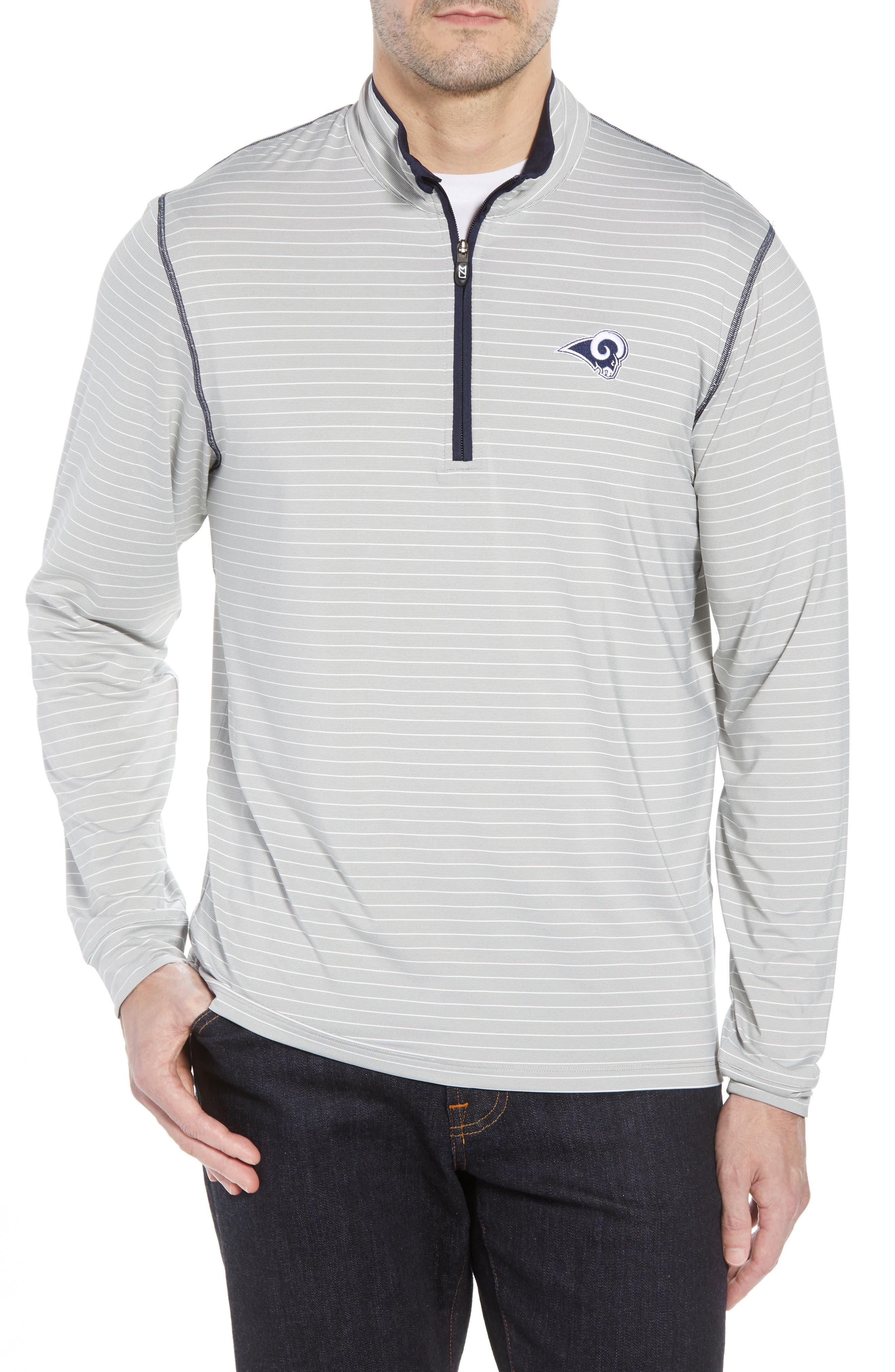 Los Angeles Rams - Meridian Half Zip Pullover,                         Main,                         color, NAVY