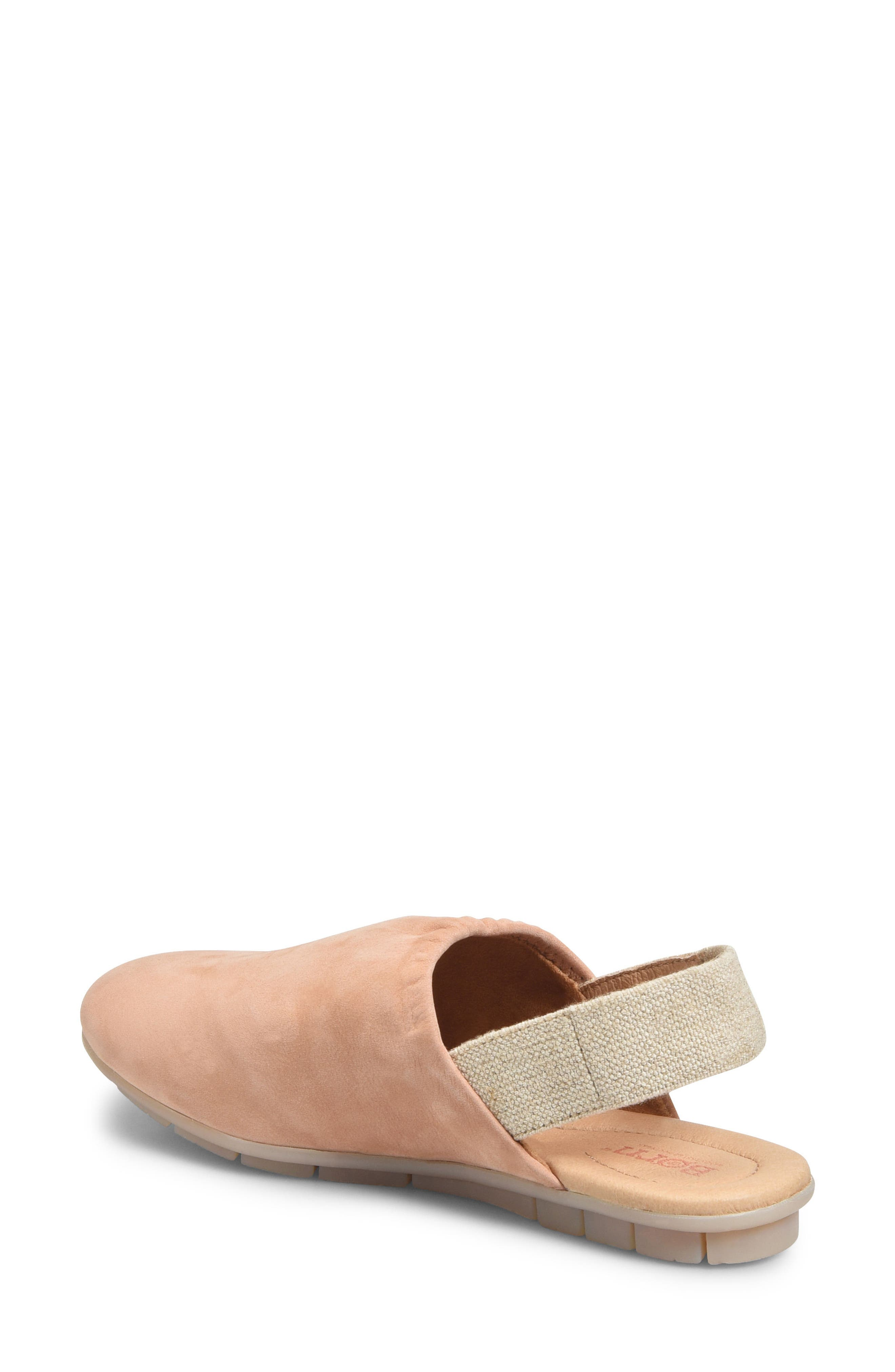 Bowe Slingback Flat,                             Alternate thumbnail 2, color,                             BLUSH NUBUCK