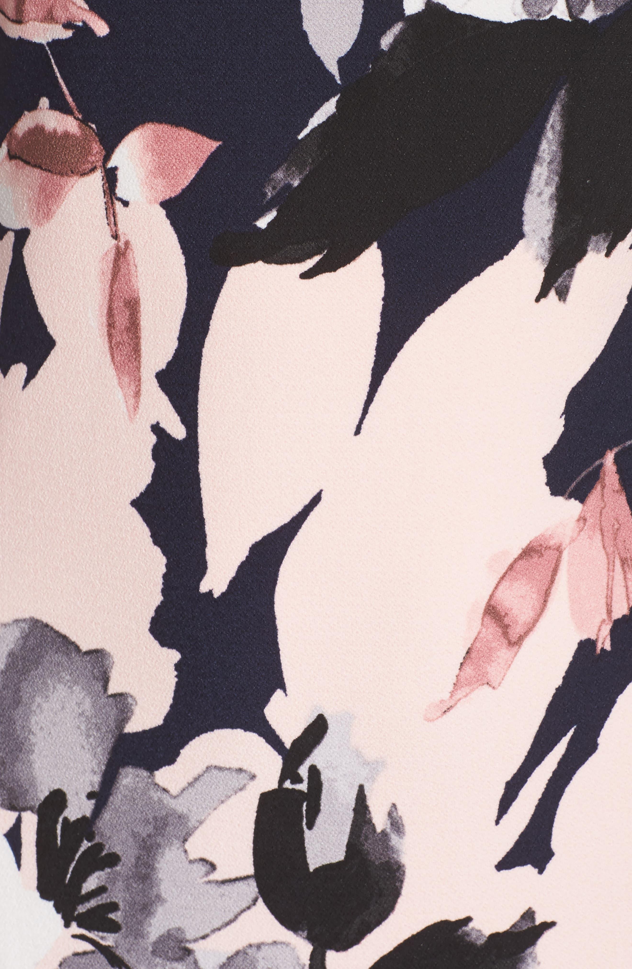 Crepe Shift Dress,                             Alternate thumbnail 5, color,                             470