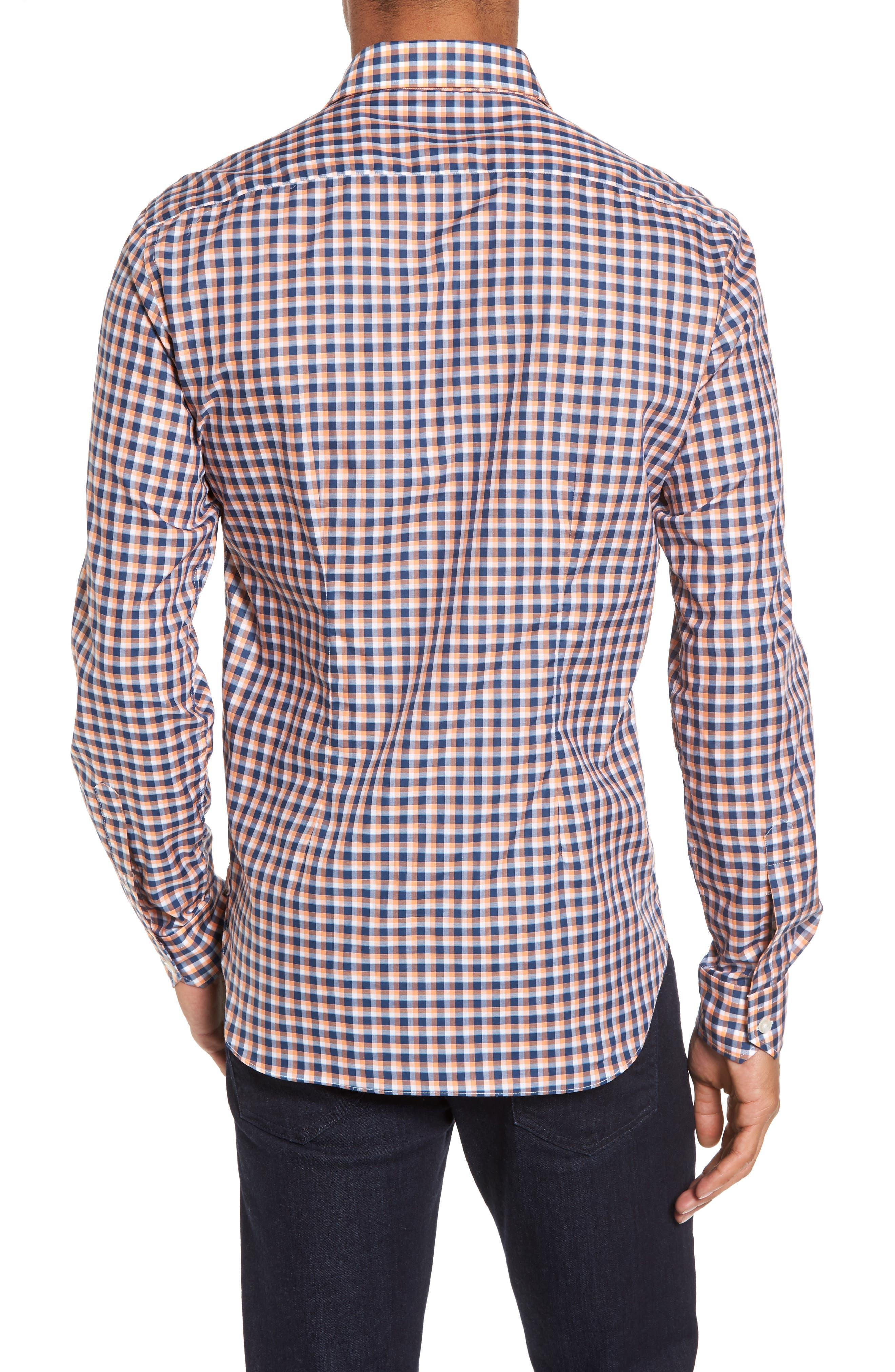 Slim Fit Check Twill Sport Shirt,                             Alternate thumbnail 2, color,                             800