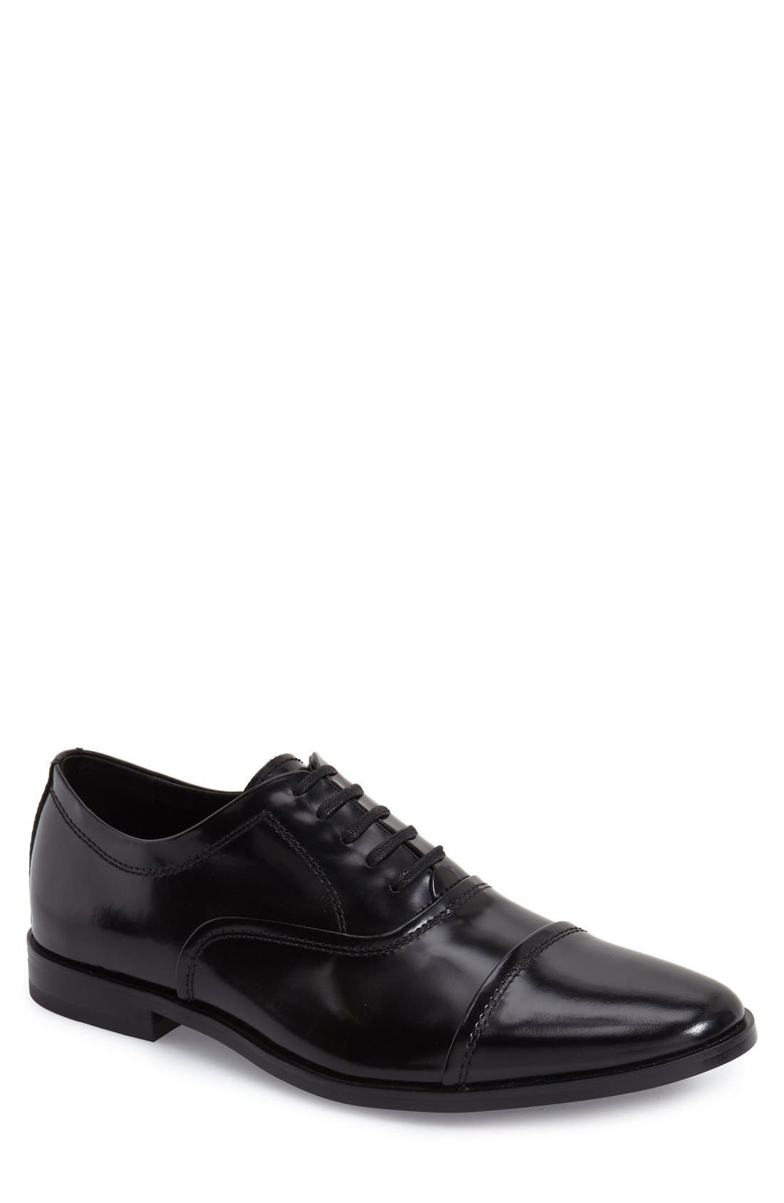 'Nino' Cap Toe Oxford,                             Main thumbnail 1, color,                             001