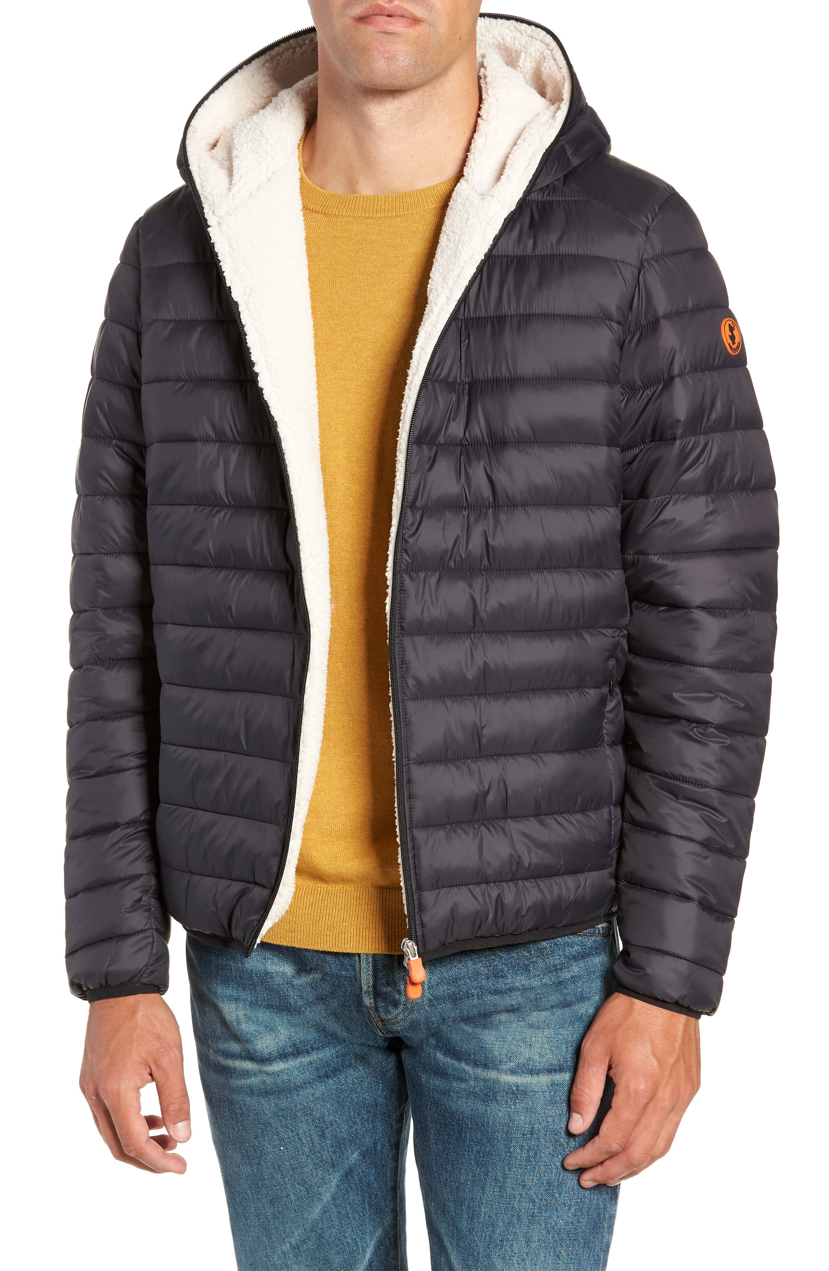 Hooded PLUMTECH<sup>®</sup> Insulated Packable Jacket,                         Main,                         color, 001