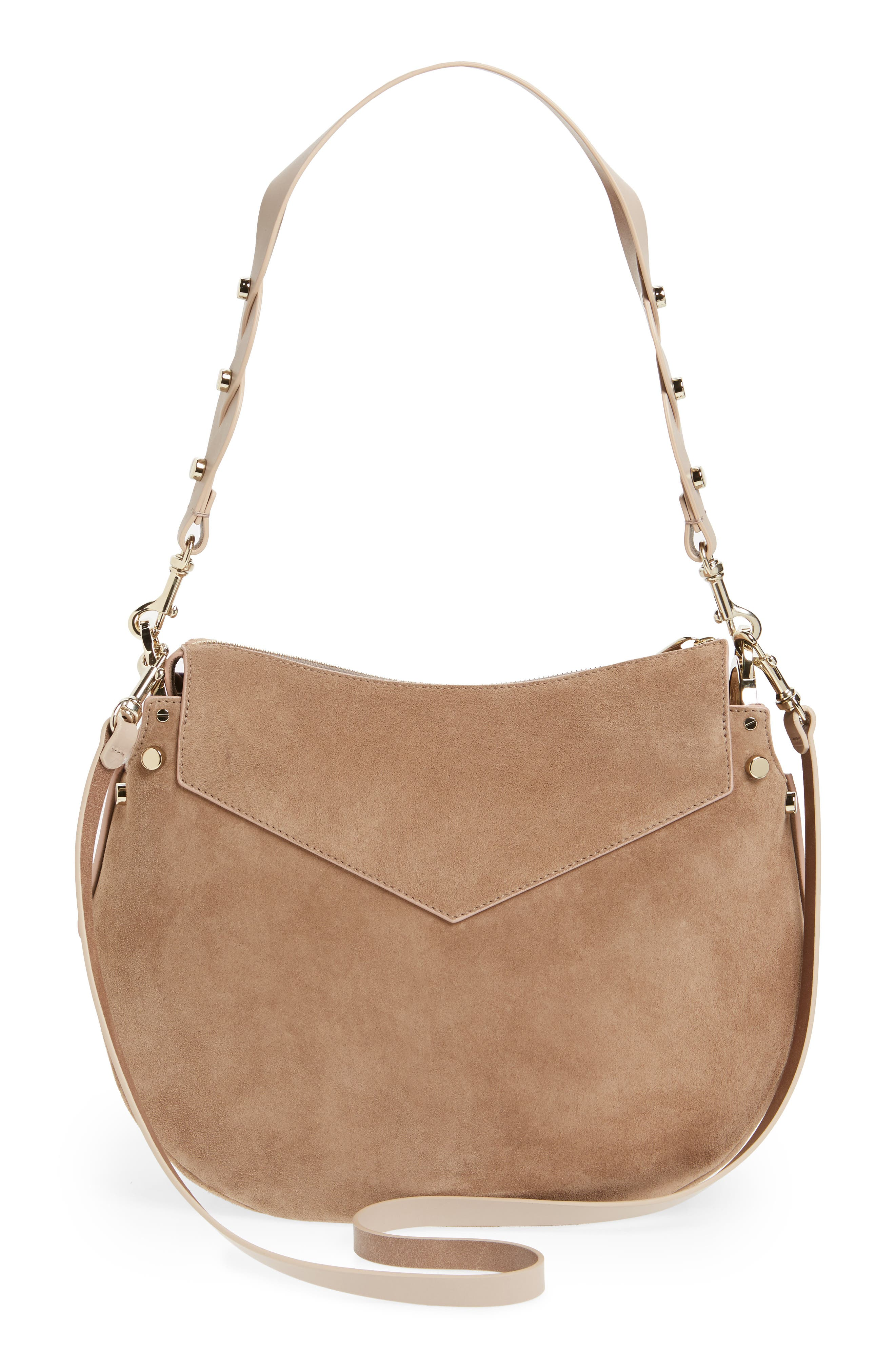 Artie Suede Hobo Bag,                             Alternate thumbnail 9, color,