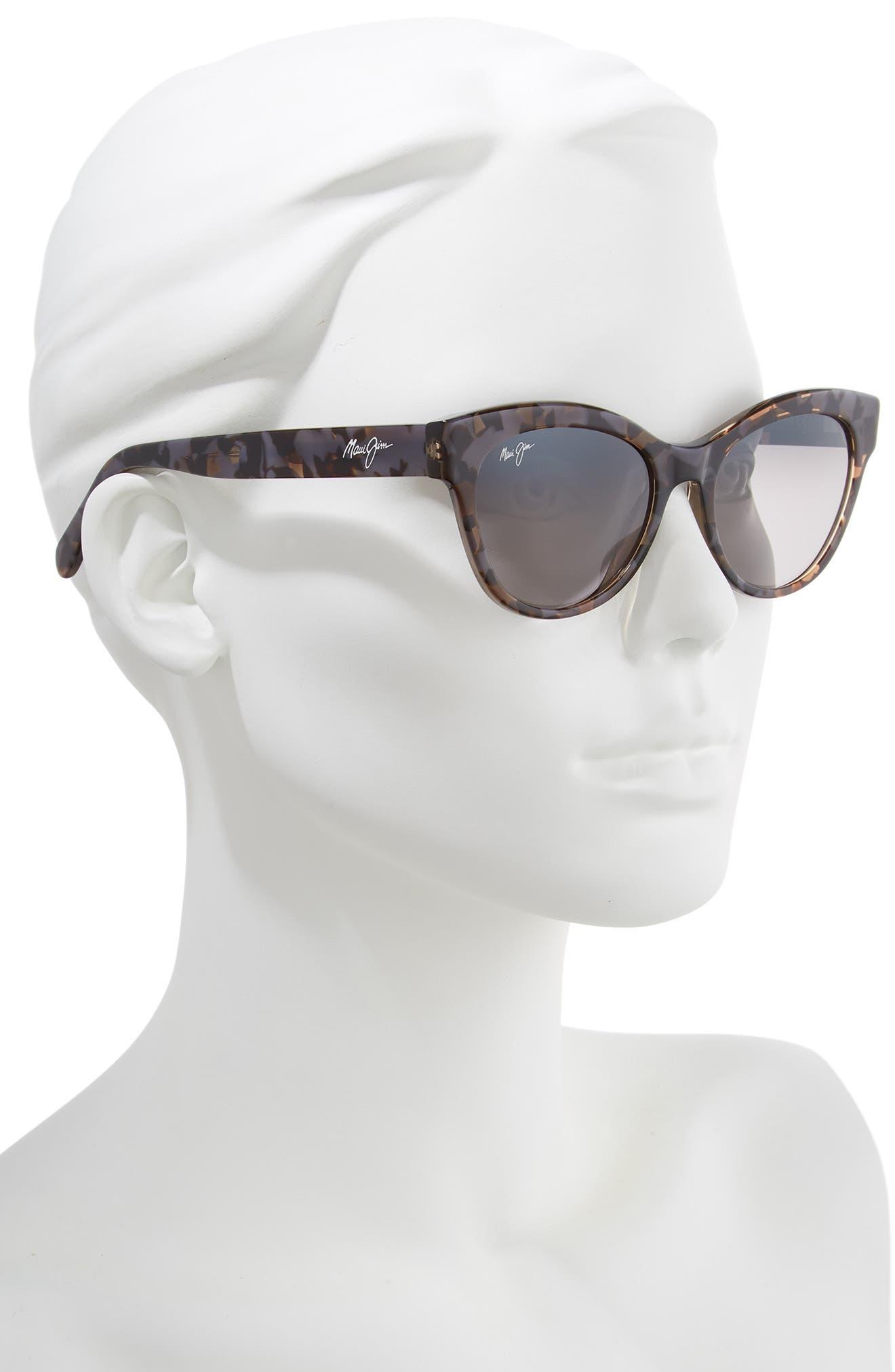 MAUI JIM,                             Ku'uipo 51mm Polarized Cat Eye Sunglasses,                             Alternate thumbnail 2, color,                             DOVE GREY