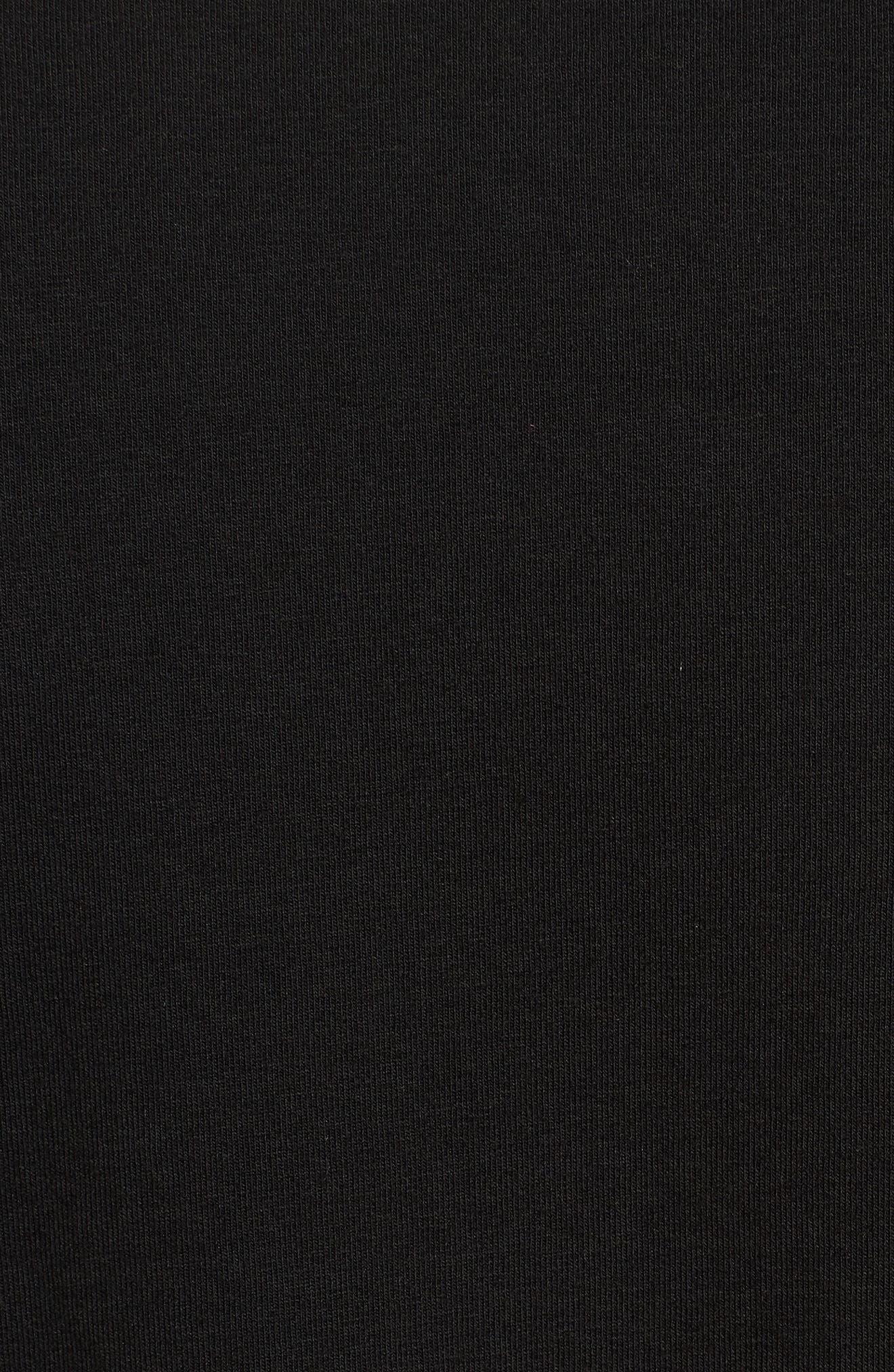 Slim fit Classics T7 T-Shirt,                             Alternate thumbnail 5, color,                             BLACK