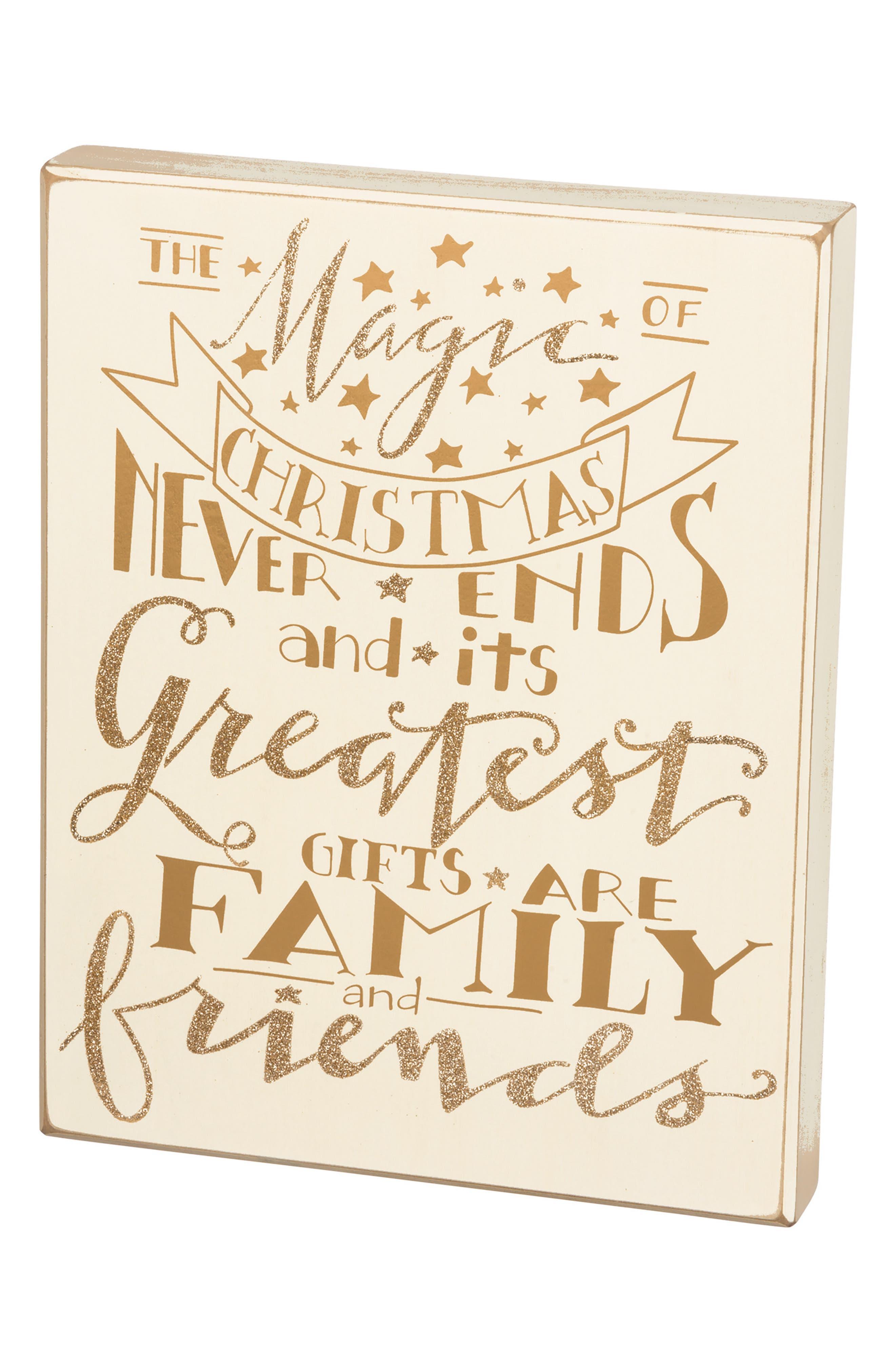 Magic of Christmas Box Sign,                             Main thumbnail 1, color,                             710