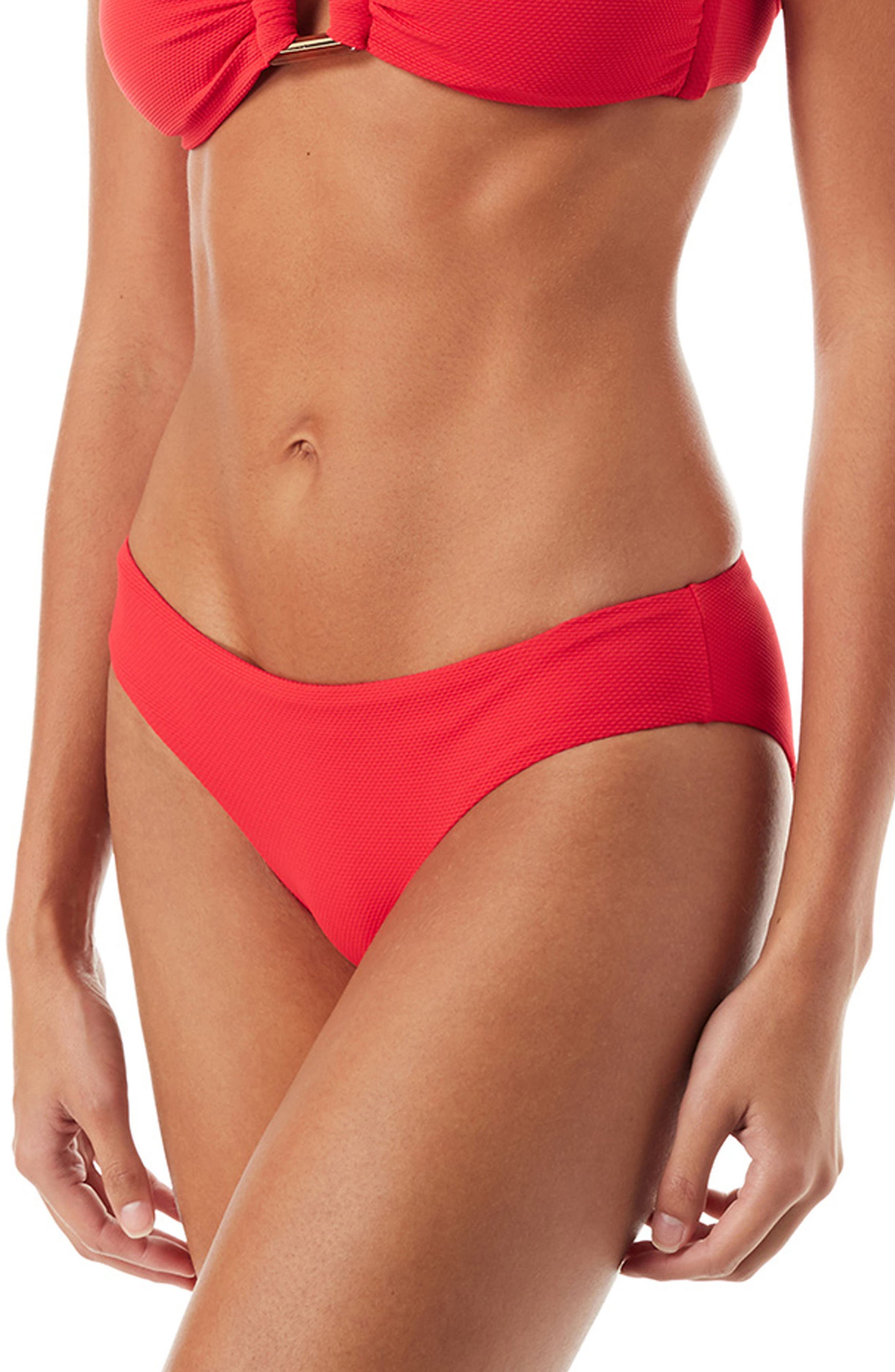 Angola Bikini Bottoms,                         Main,                         color, PIQUE RED