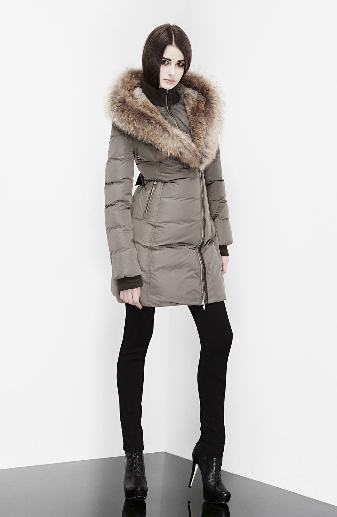 MACKAGE,                             'Akiva' Genuine Fox & Rabbit Fur Trim Down Coat,                             Alternate thumbnail 5, color,                             250