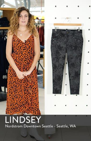 Ab-Solution Floral Ponte Ankle Pants, sales video thumbnail