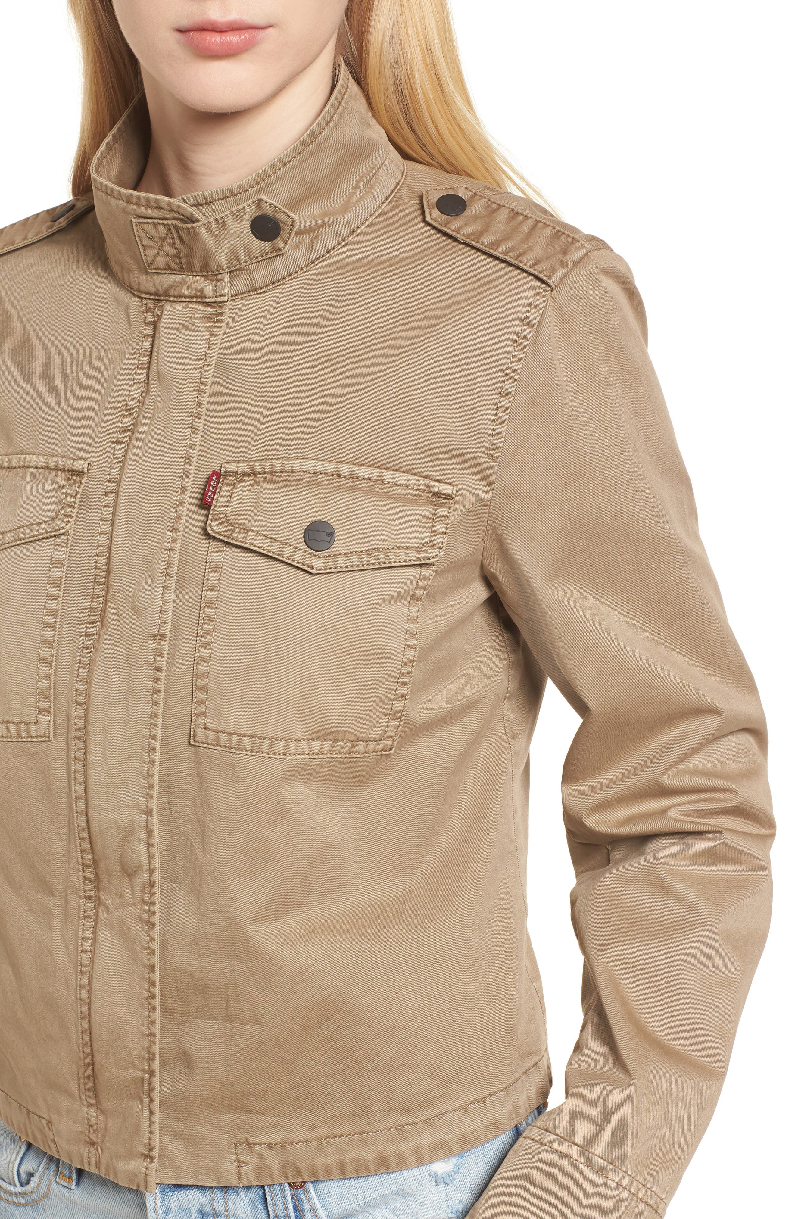 Crop Military Jacket,                             Alternate thumbnail 18, color,