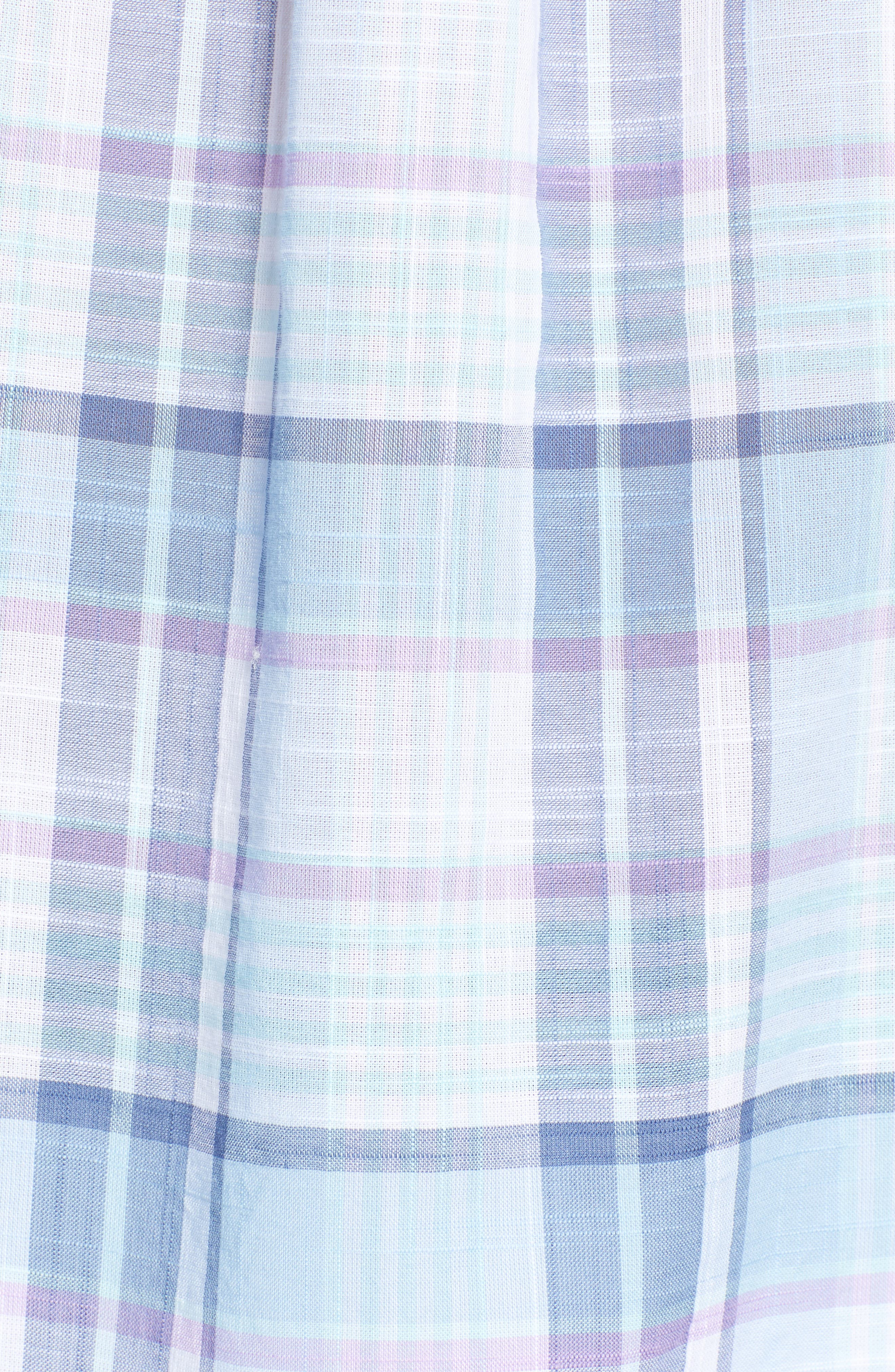 Pleasant Bay Classic Fit Plaid Sport Shirt,                             Alternate thumbnail 5, color,                             456