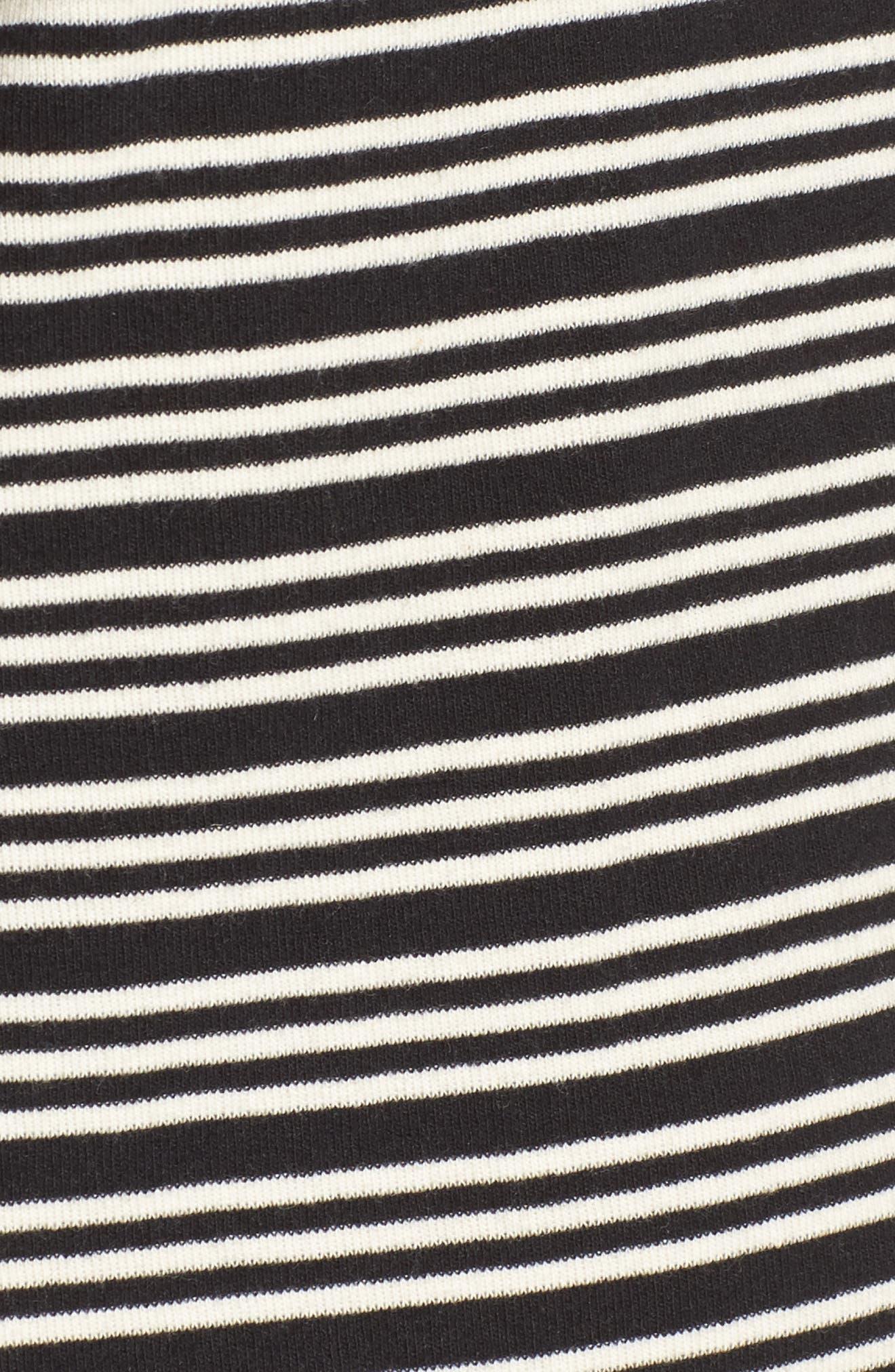 Freya Stripe T-Shirt Dress,                             Alternate thumbnail 5, color,