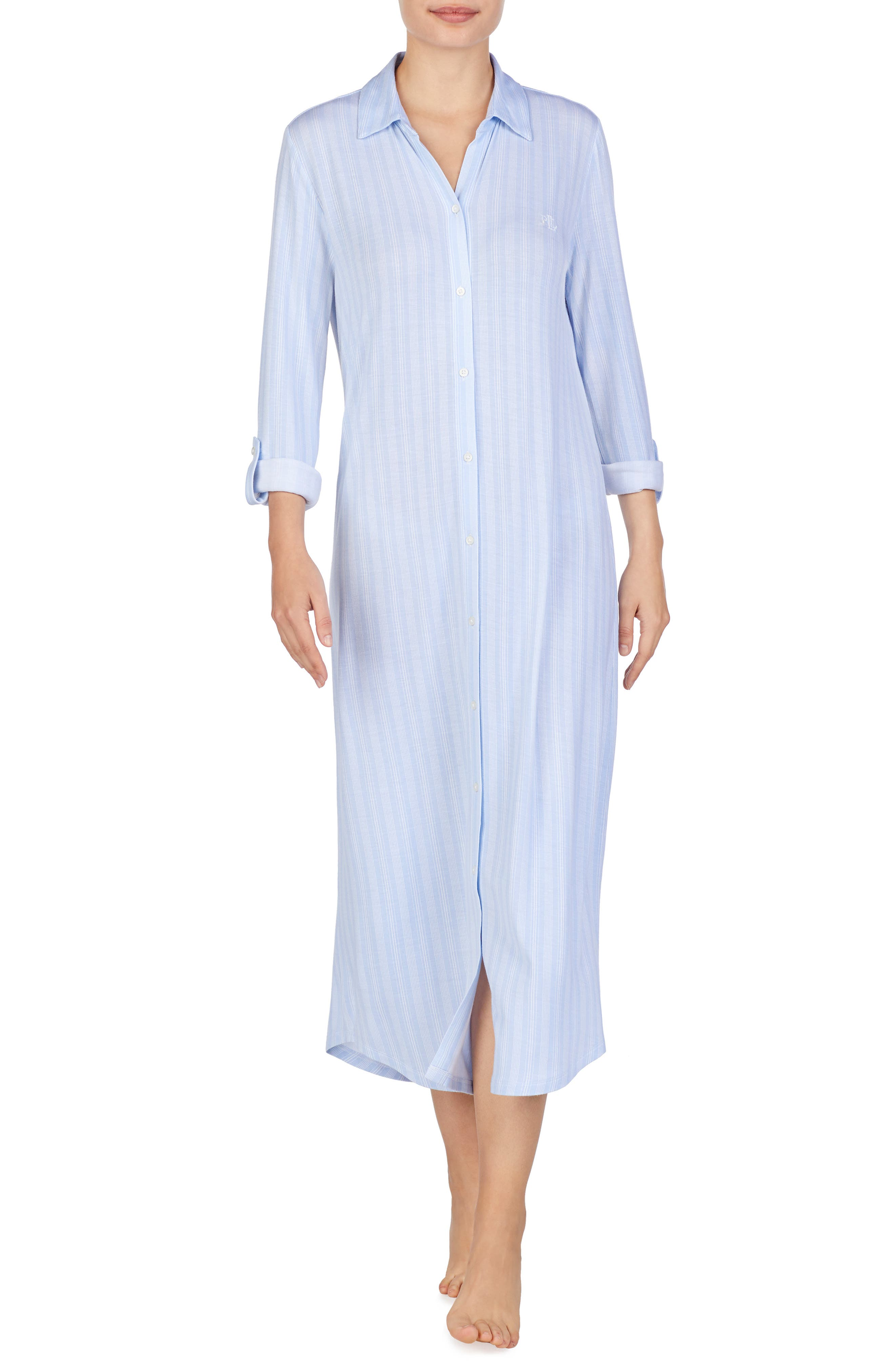 Lauren Ralph Lauren Ballet Jersey Sleep Shirt, Blue