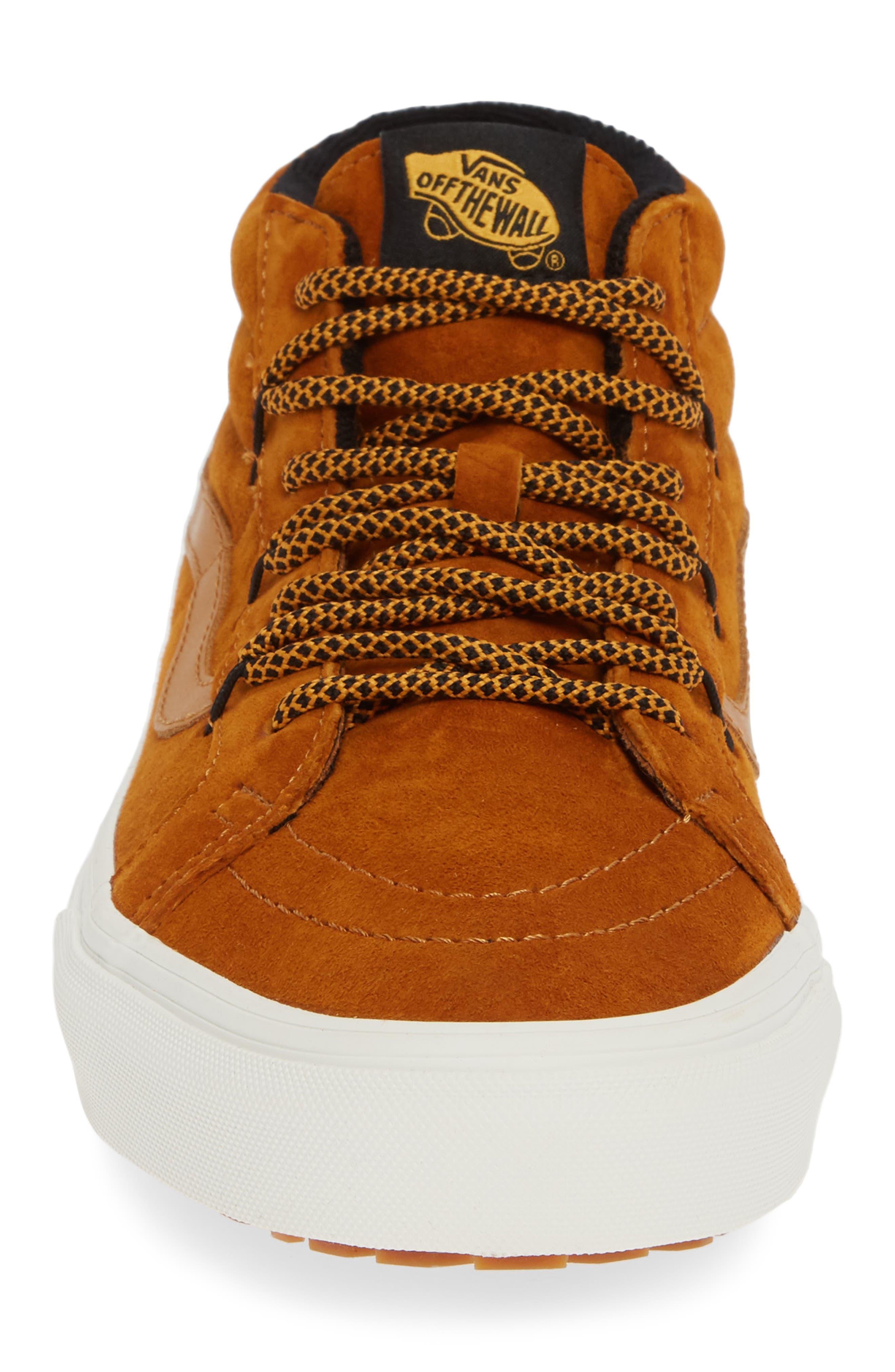 SK8-Hi Mid Reissue Ghillie MTE Sneaker,                             Alternate thumbnail 4, color,                             BROWN/ MARSHMALLOW