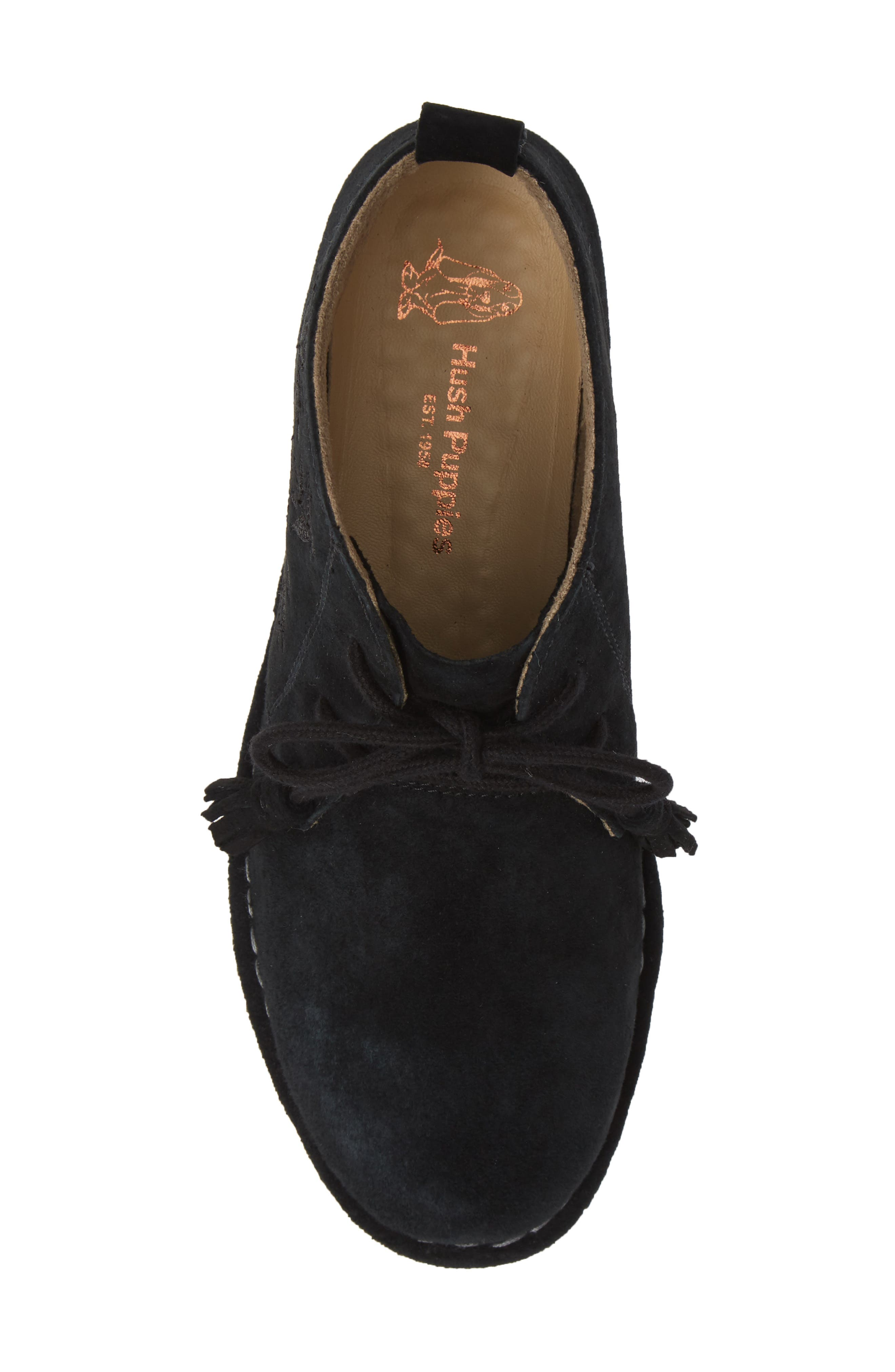 HUSH PUPPIES<SUP>®</SUP>,                             Cyra Catelyn Chukka Bootie,                             Alternate thumbnail 5, color,                             BLACK SUEDE