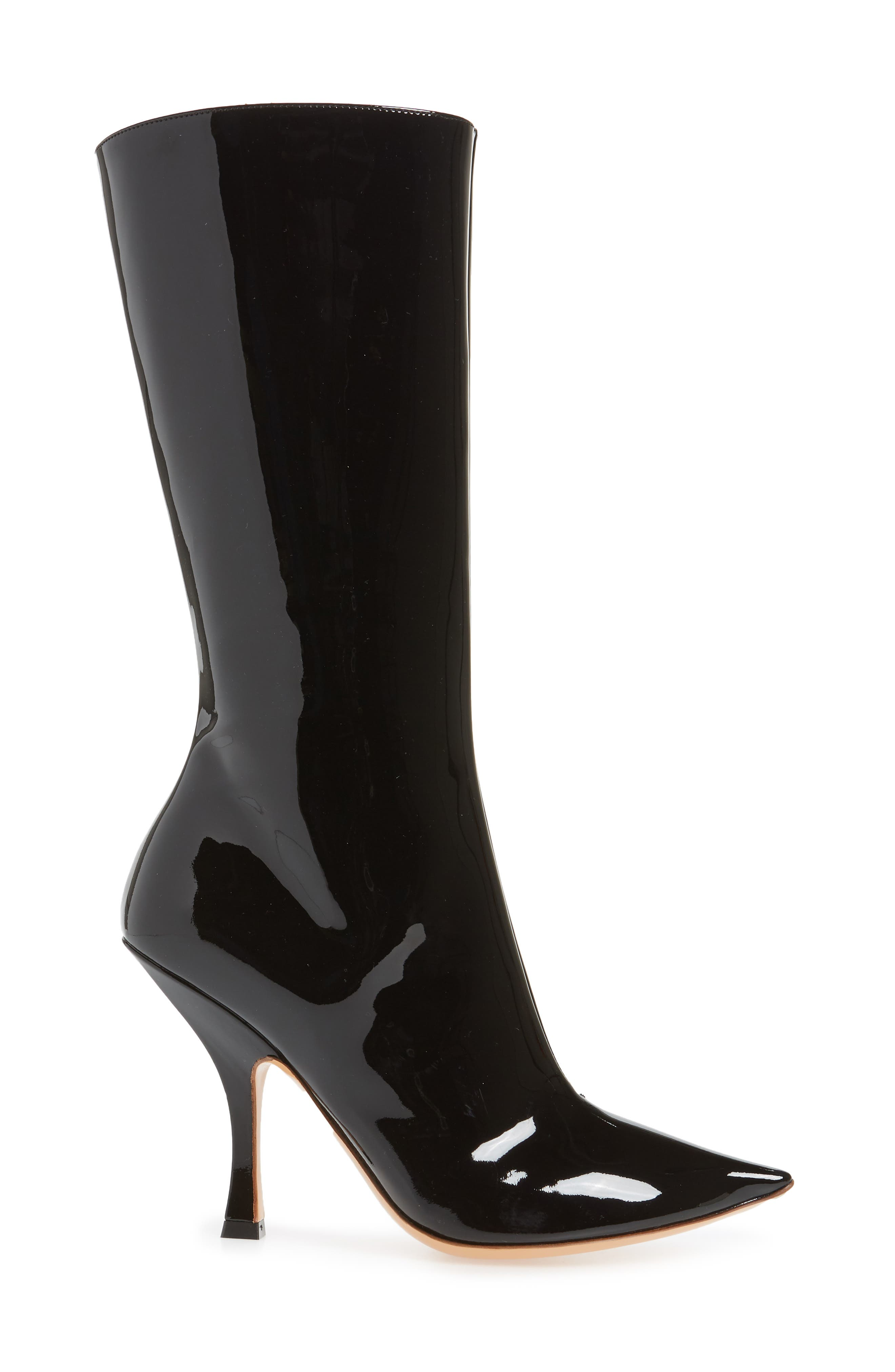 Pointy Toe Boot,                             Alternate thumbnail 3, color,                             001
