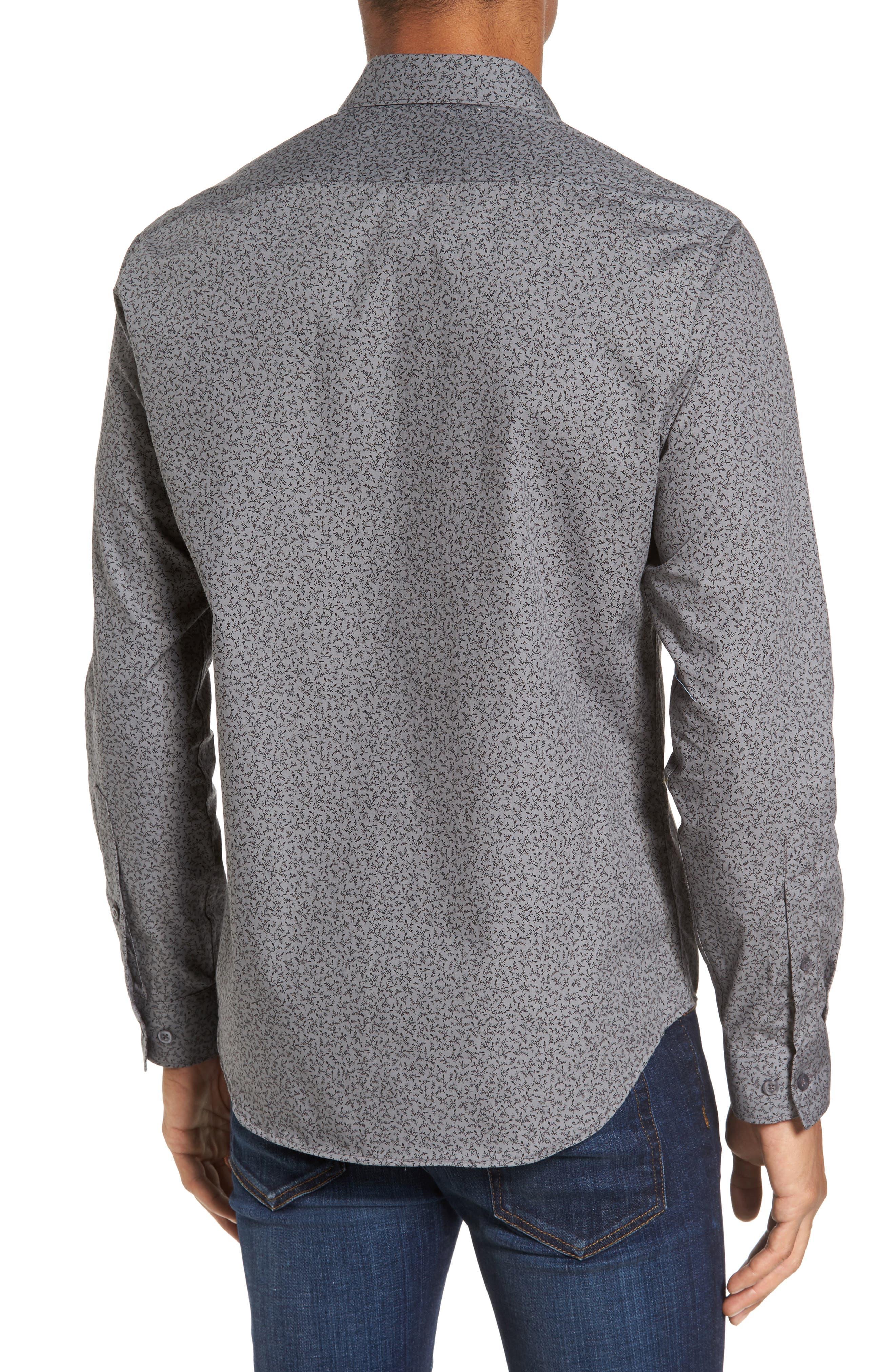 Slim Fit Print Sport Shirt,                             Alternate thumbnail 2, color,