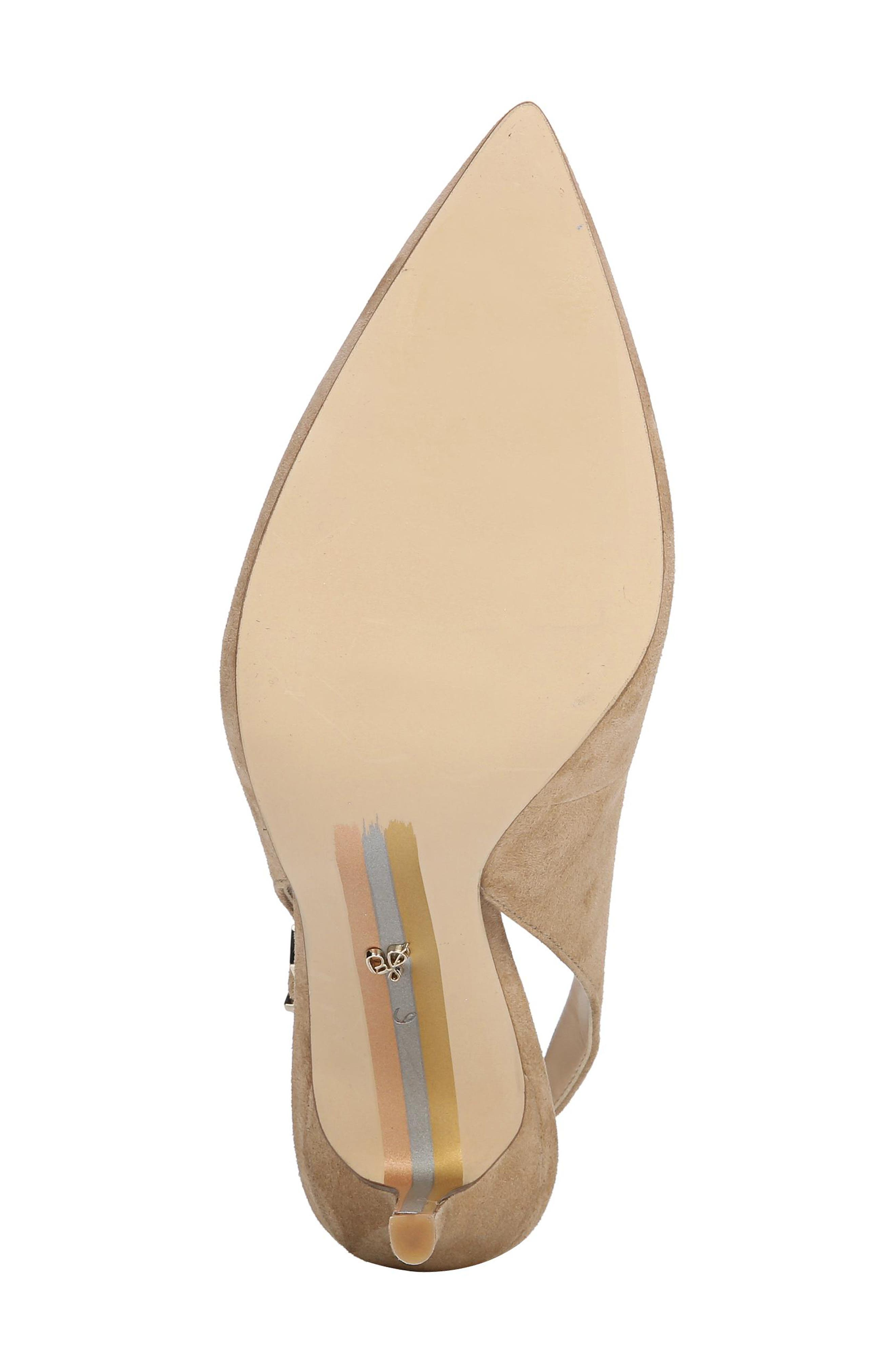 Hastings Slingback Pump,                             Alternate thumbnail 6, color,                             OATMEAL SUEDE LEATHER