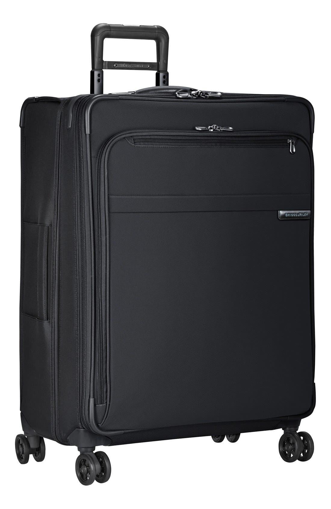 'Baseline' Large Expandable Rolling Packing Case,                         Main,                         color, BLACK