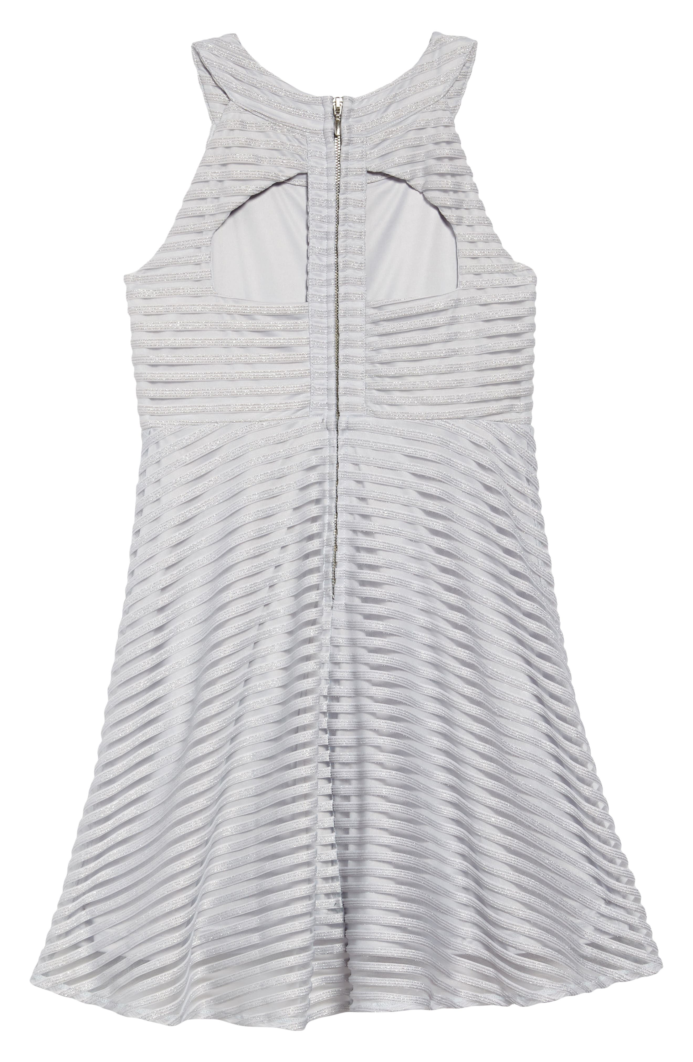 Shadow Stripe Skater Dress,                             Alternate thumbnail 2, color,                             LIGHT BLUE