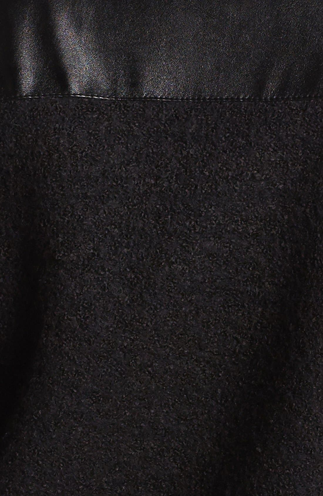 Bouclé Knit Bomber Jacket,                             Alternate thumbnail 2, color,                             001