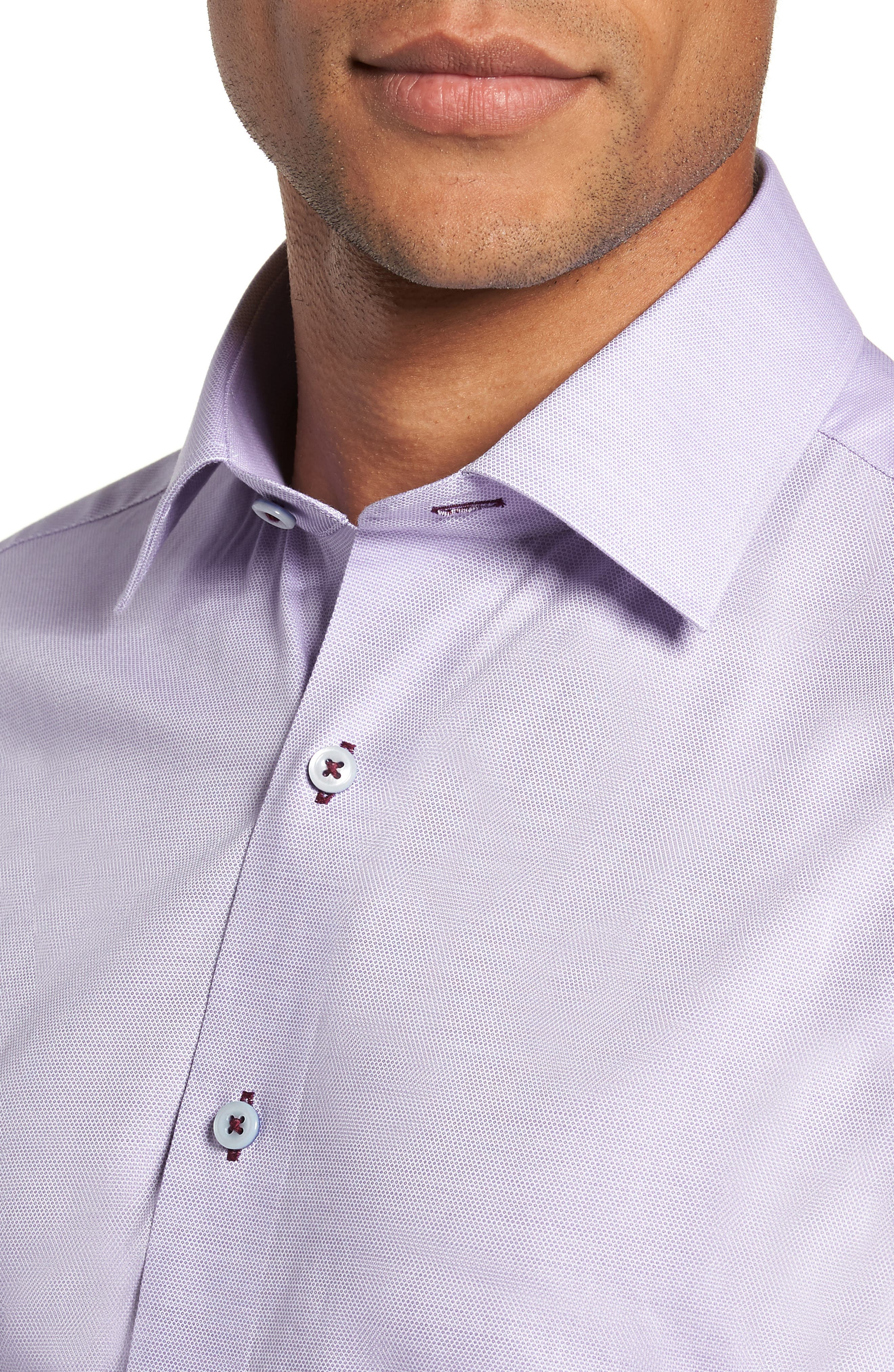Trim Fit Solid Dress Shirt,                             Alternate thumbnail 2, color,                             530