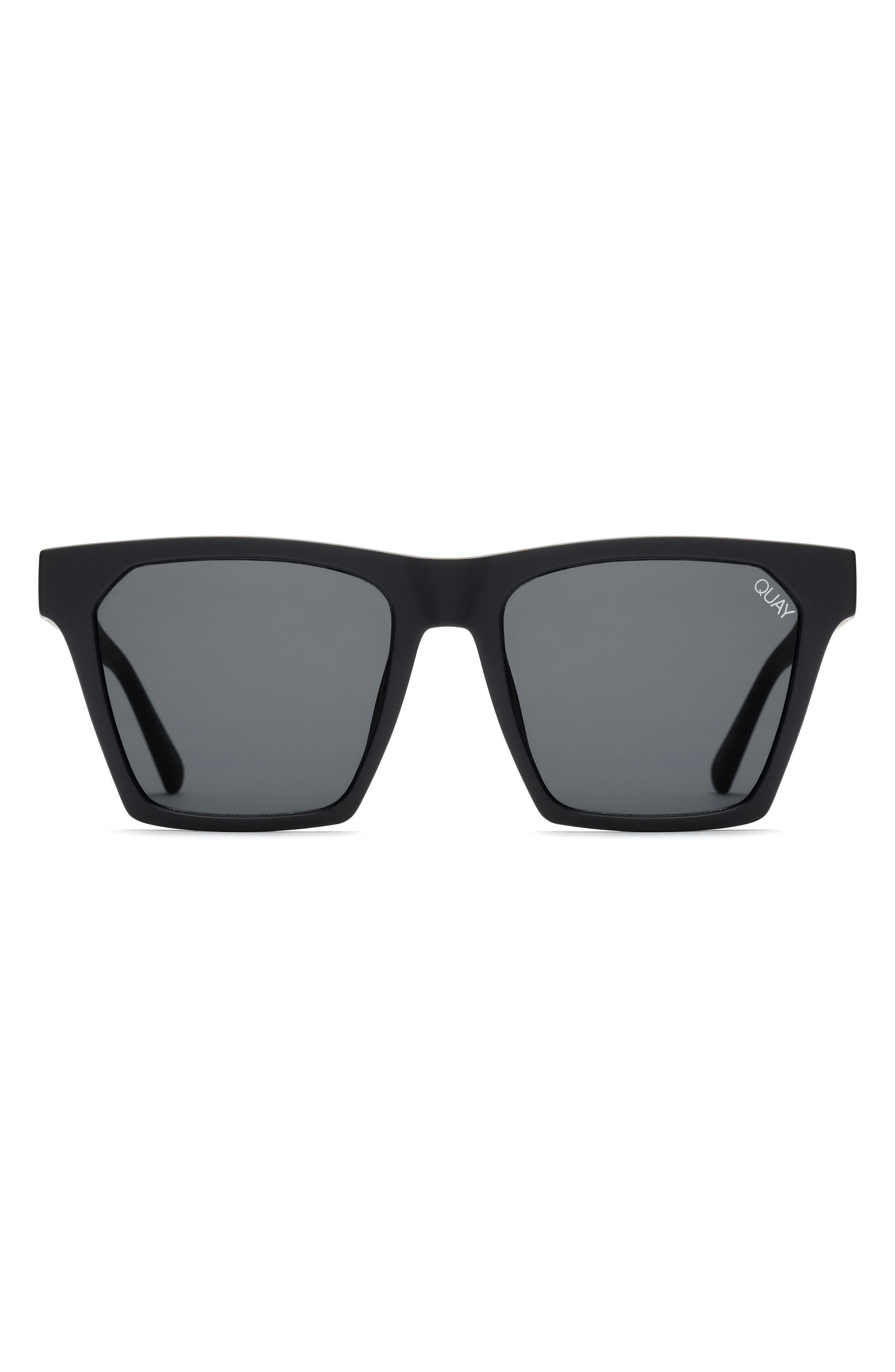 x Missguided Alright 55mm Square Sunglasses,                             Alternate thumbnail 4, color,                             001